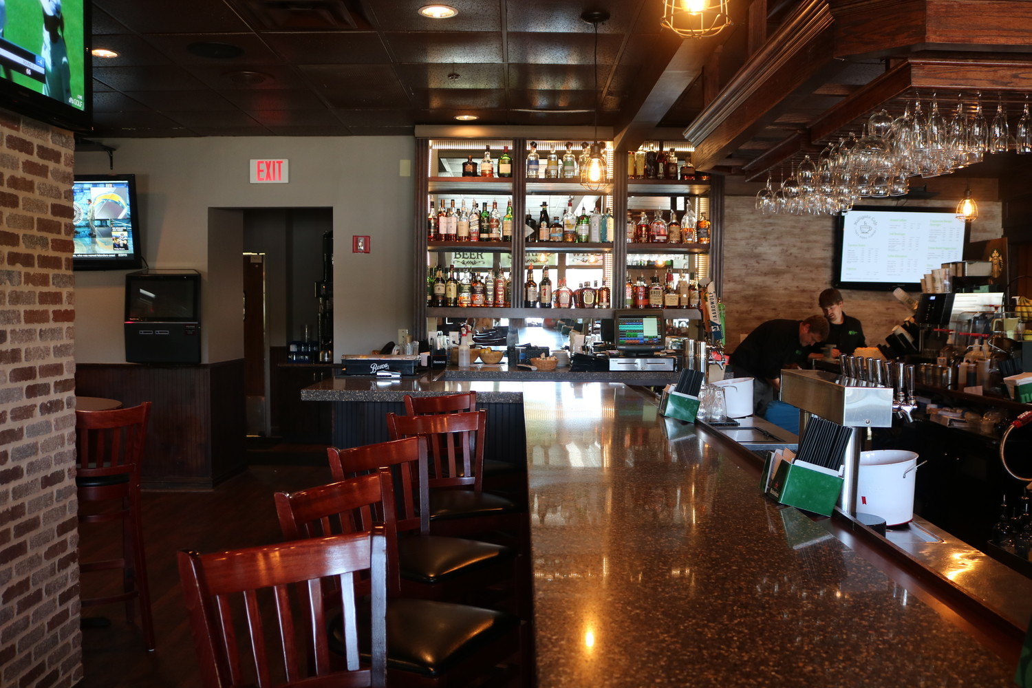 Mulligan's Pub features a bar area where guests can enjoy a large liquor selection, draft beer and more.