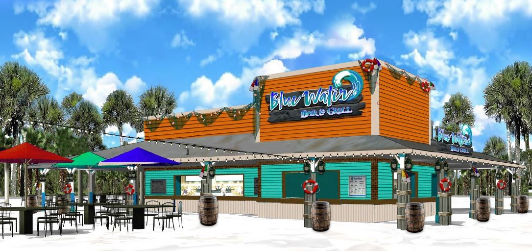 Blue Water Bar & Grill will serve both food and drinks at the water park.