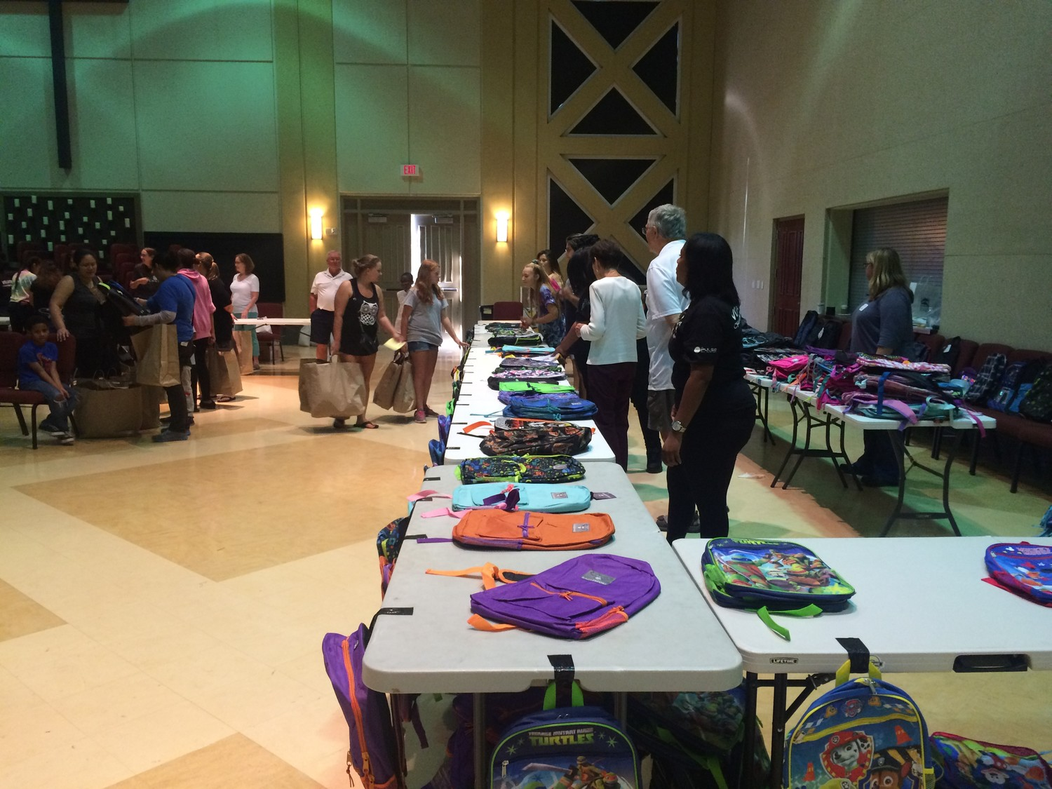 Back to School with BEAM features school supplies for underprivileged youth inside the sanctuary at Beach Church, located at 325 7th Ave N. in Jacksonville Beach.
