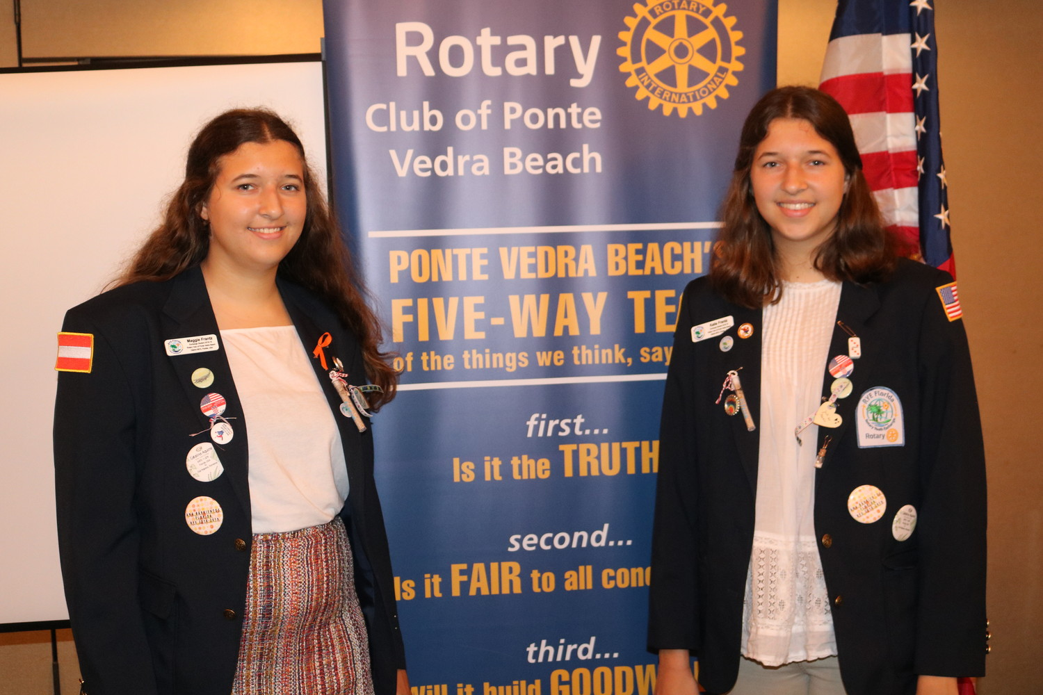 Ponte Vedra High School students and twins Maggie and Katie Frantz are spending the next academic year in Vienna, Austria and Joinville, Brazil as members of the Rotary Youth Exchange program.