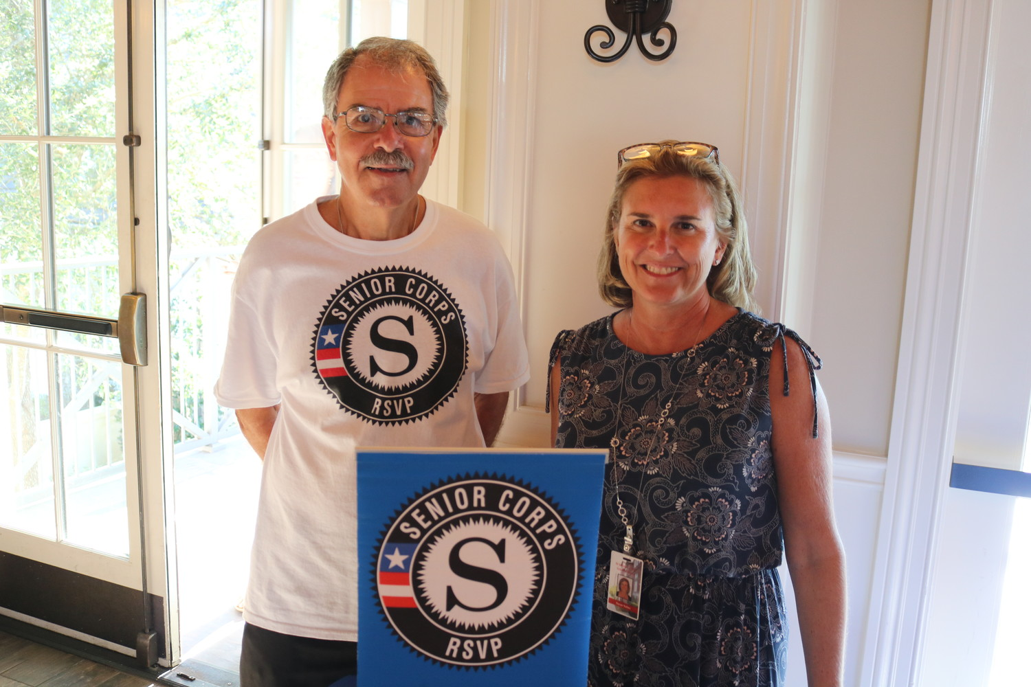 Rick Lombardo and Susan Solms of RSVP of St. Johns County