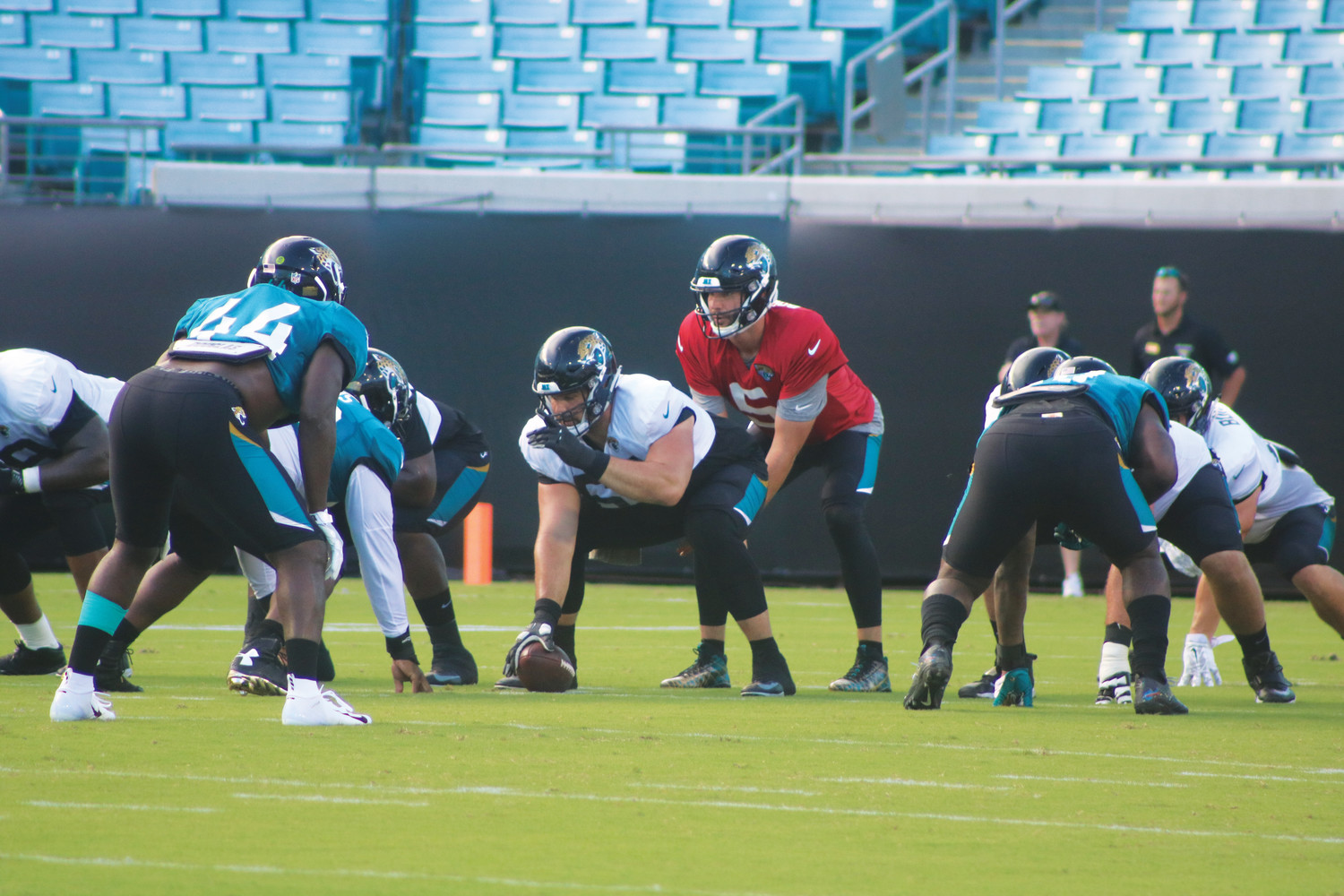 Jaguars quarterback Blake Bortles prepares to snap the ball in the team's scrimmage on Family Night Aug. 3.