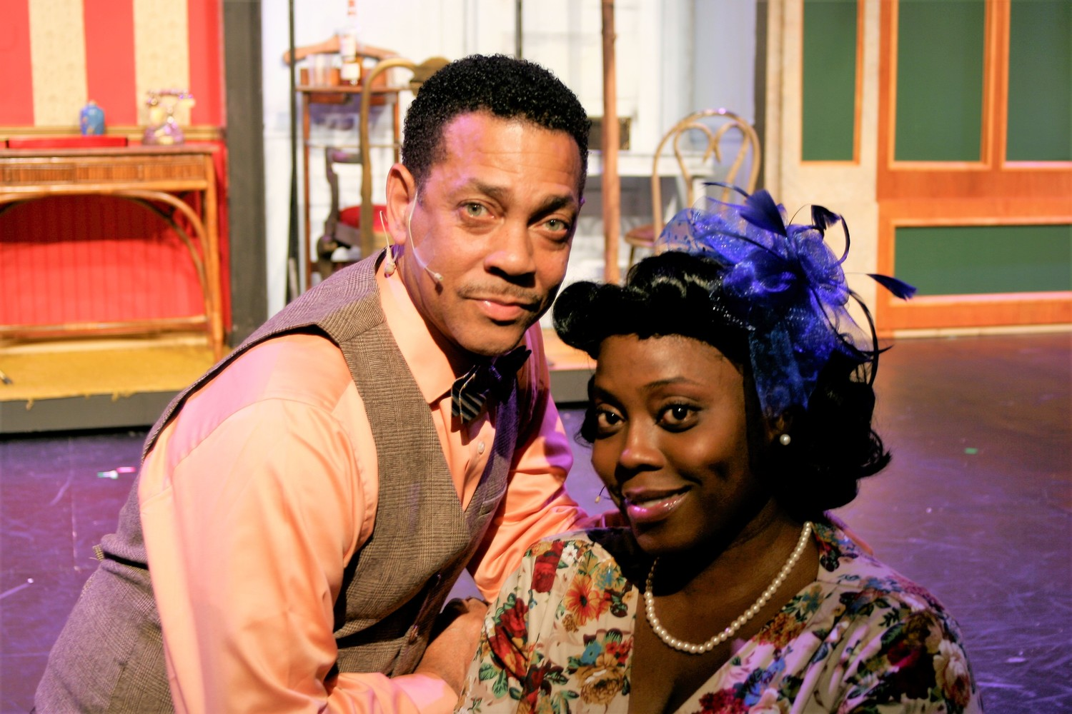 Darryl Reuben Hall and Lolita Flagg play the roles of Paul and Hattie in the Alhambra production of 'Kiss Me, Kate.""