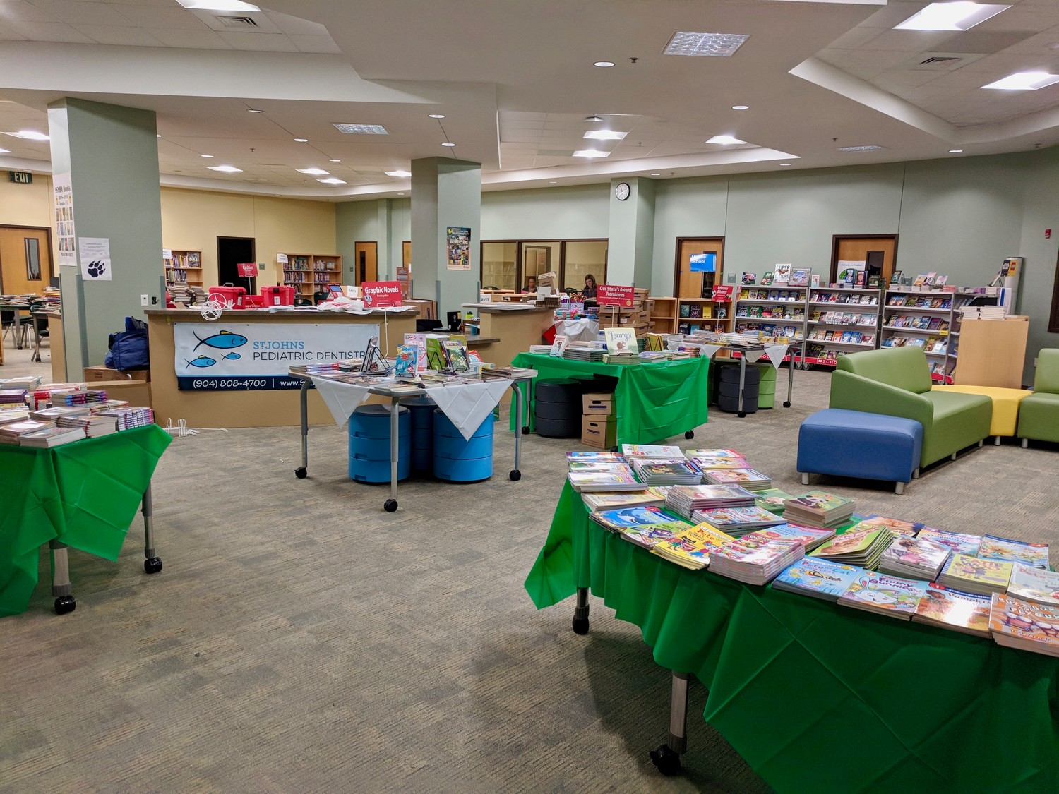 A book fair is held in the Media Center at Palm Valley Academy during the school's Back-to-School Bash last Wednesday, Aug. 8.