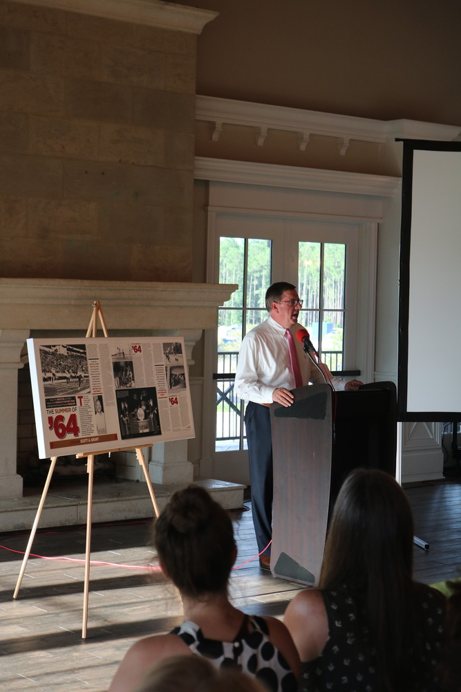 Scott Grant delivers a presentation in Nocatee July 25 entitled the Summer of 1964, in which the historian highlighted key events leading up to, and following, the Civil Rights Act of 1964.