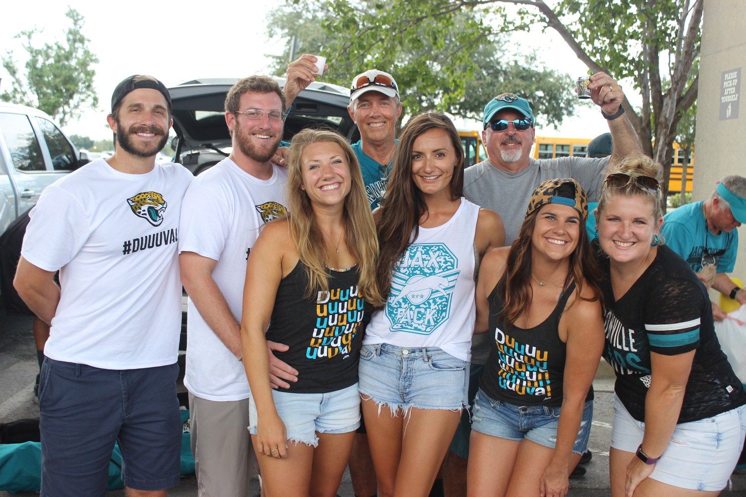 Jaguars fans from up and down the First Coast enjoyed the opportunity to tailgate before the team faced the Atlanta Falcons Aug. 25 in preseason week three.