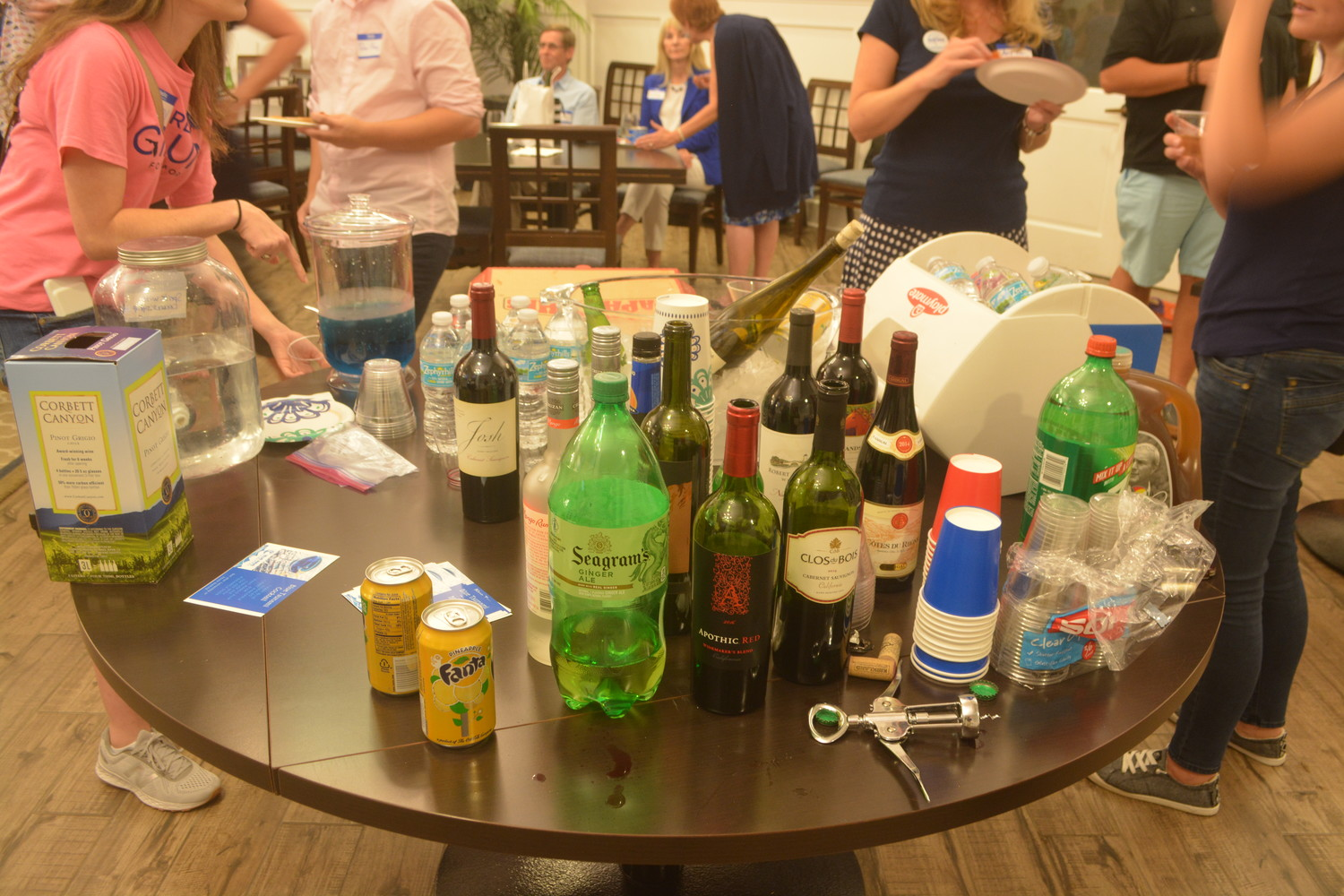 An assortment of drinks and snacks available for guests at the Aug. 28 party hosted by Ponte Vedra Democratic Club.