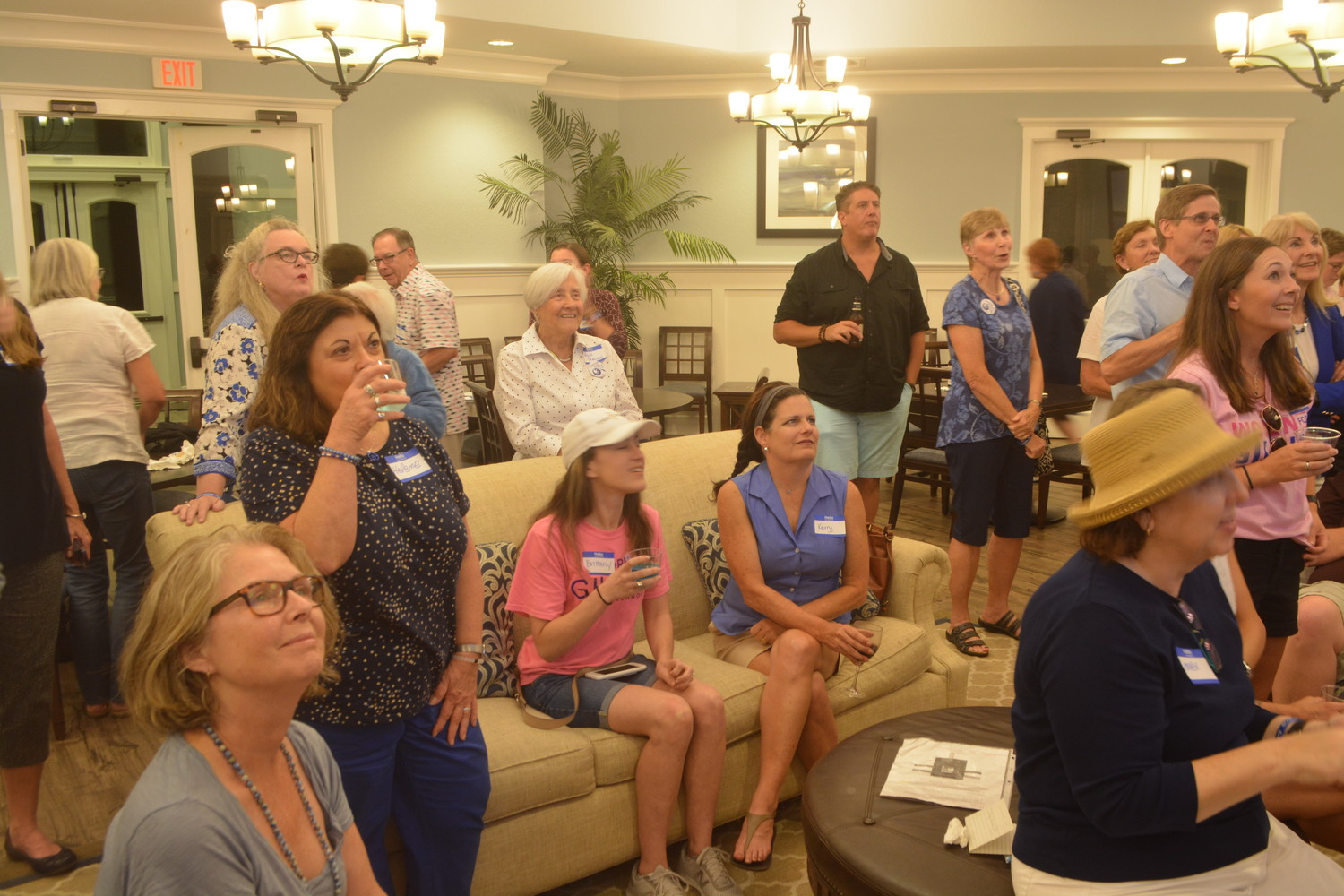Ponte Vedra Democratic Club members and guests wait for poll results at an Aug. 28 watch party at the Coastal Oaks at Nocatee clubhouse.