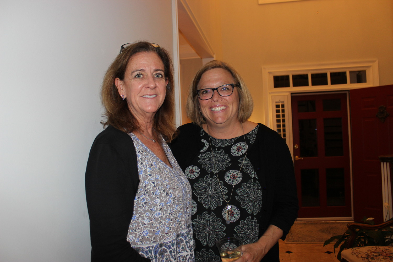 Suzanne Green and Kim Scott at Kelly Barrera's victory party