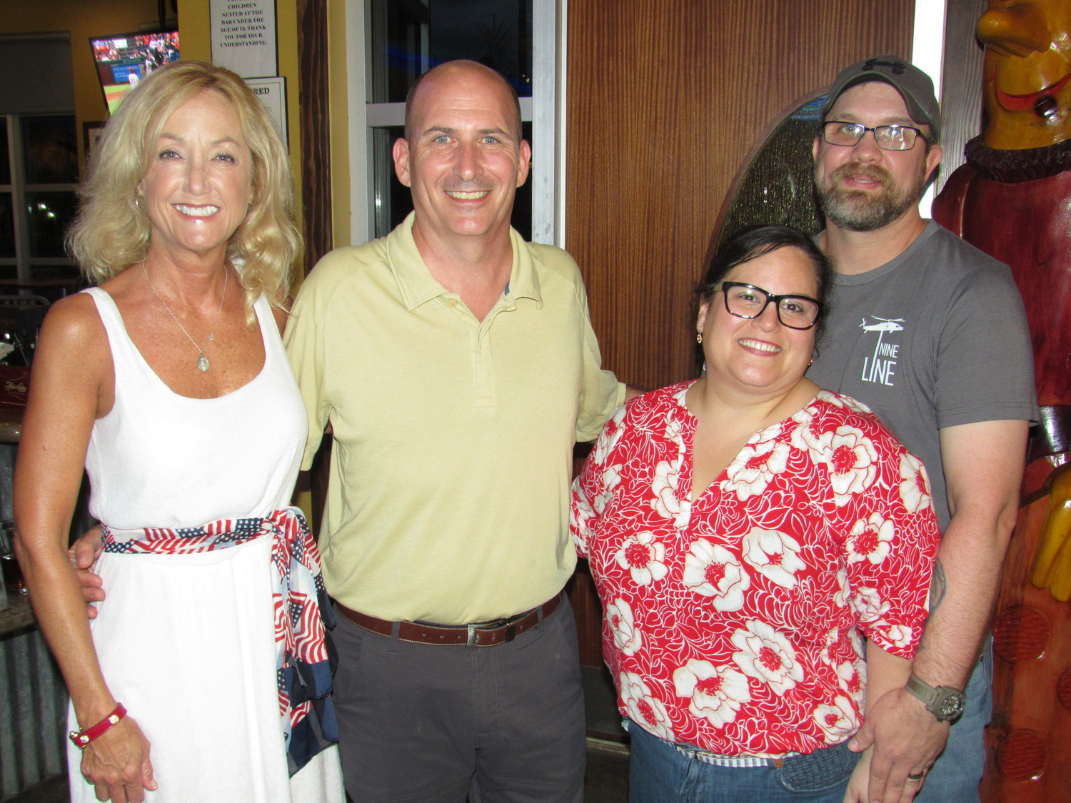 St. Johns County Republican Party Second Vice Chair Diane Scherff gathers with School Board District 4 candidate Denver Cook and Elizabeth and Chris Chatham.