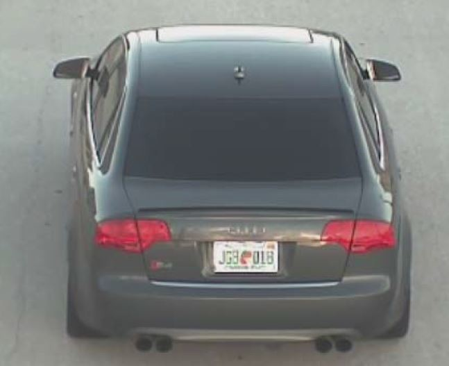 Another car Parsons may be driving is this 2008 gray Audi S4 bearing the Florida tag JGBQ18.