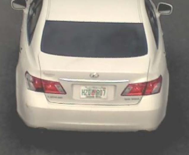 Parsons may be driving this 2007 white Lexus ES350 with Florida tag HZQR07.