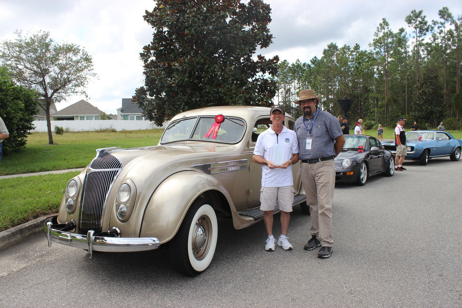 Mark Becker's 1936 Chrysler C-9 Airflow Coupe takes home the Wells Fargo Advisors Best in Show Classic award.