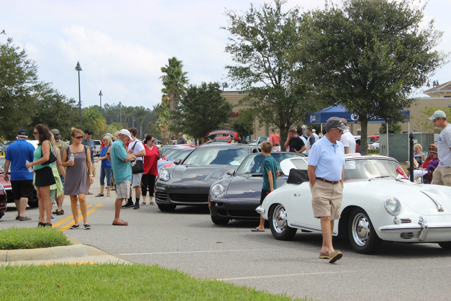 Car enthusiasts gather at Nocatee Town Center for the 2017 Ponte Vedra Auto Show.