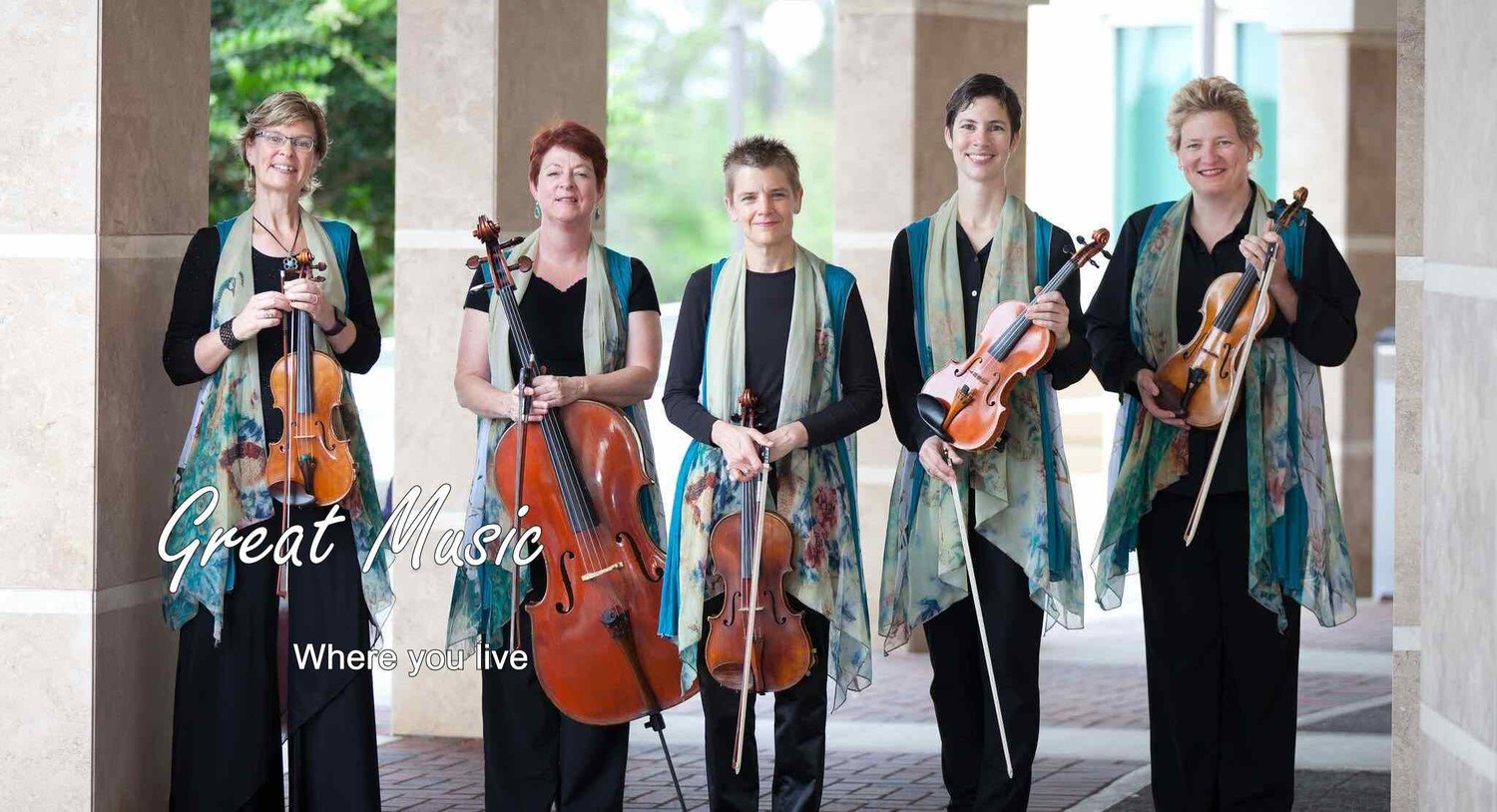 Pictured is Annie Hertler, Laurie Casseday, Susan Pardue, Anna Genest and Patrice Evans of the Florida Chamber Music Project, which kicks off its 2018-2019 season Sept. 30 at the Ponte Vedra Concert Hall.