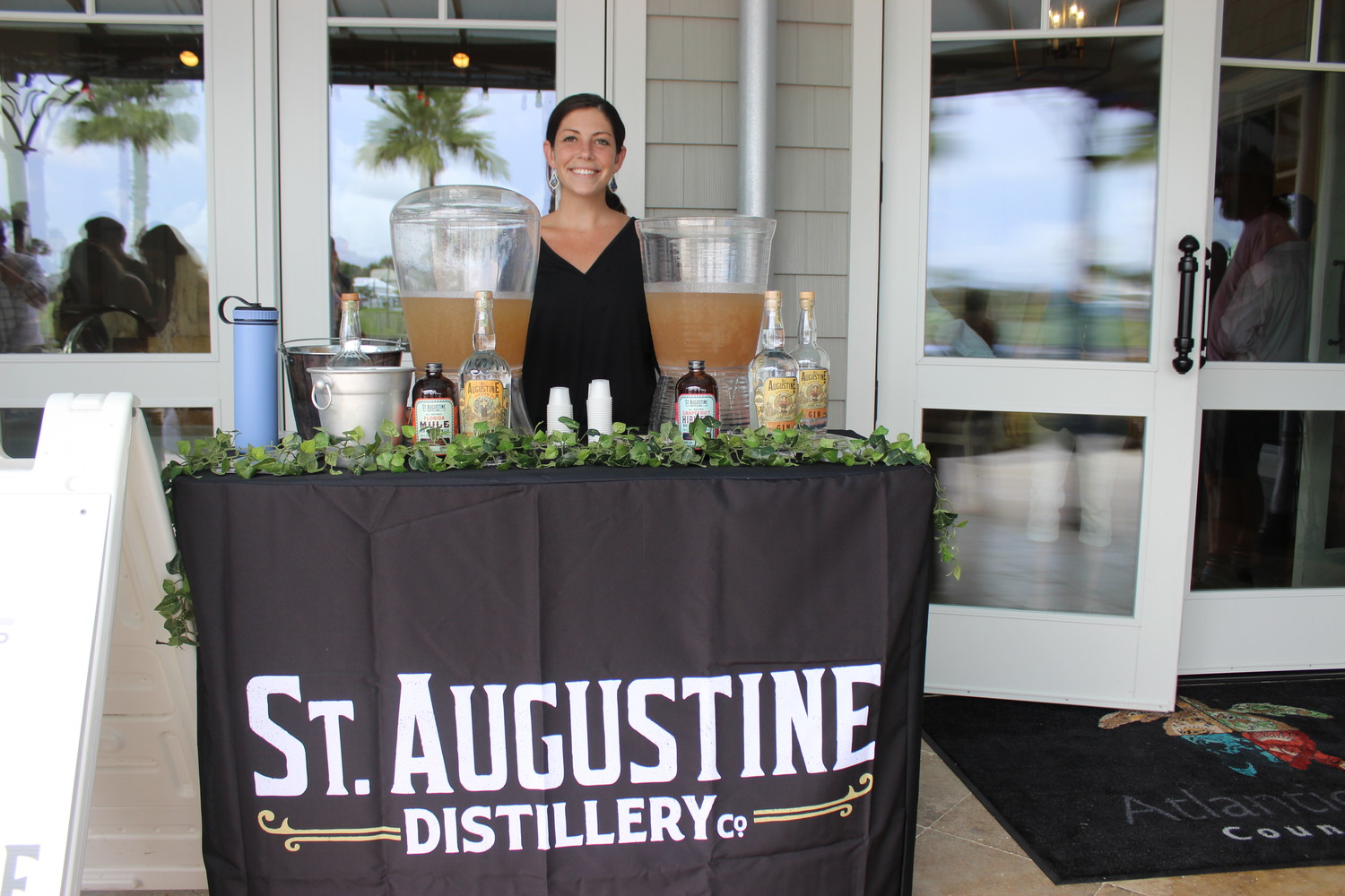 St. Augustine Distillery offers drink samples at the event.