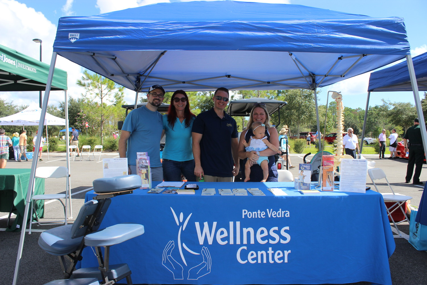 The Ponte Vedra Wellness Center enjoys the Auto Show.