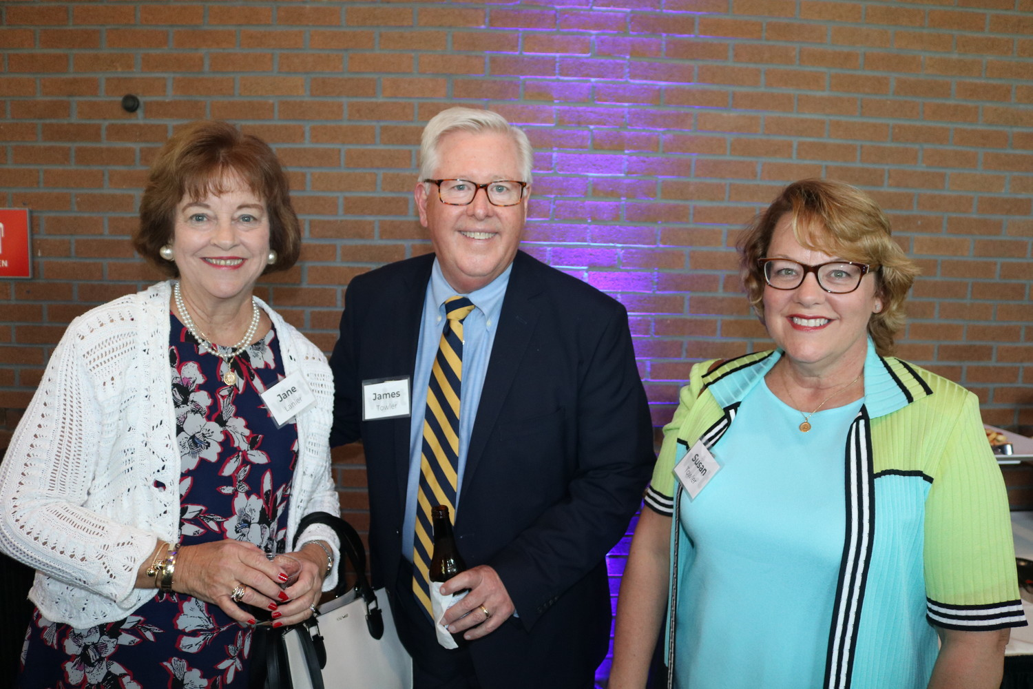 Jane Lanier and James Towler of St. Vincent's Healthcare and Susan Towler of Florida Blue