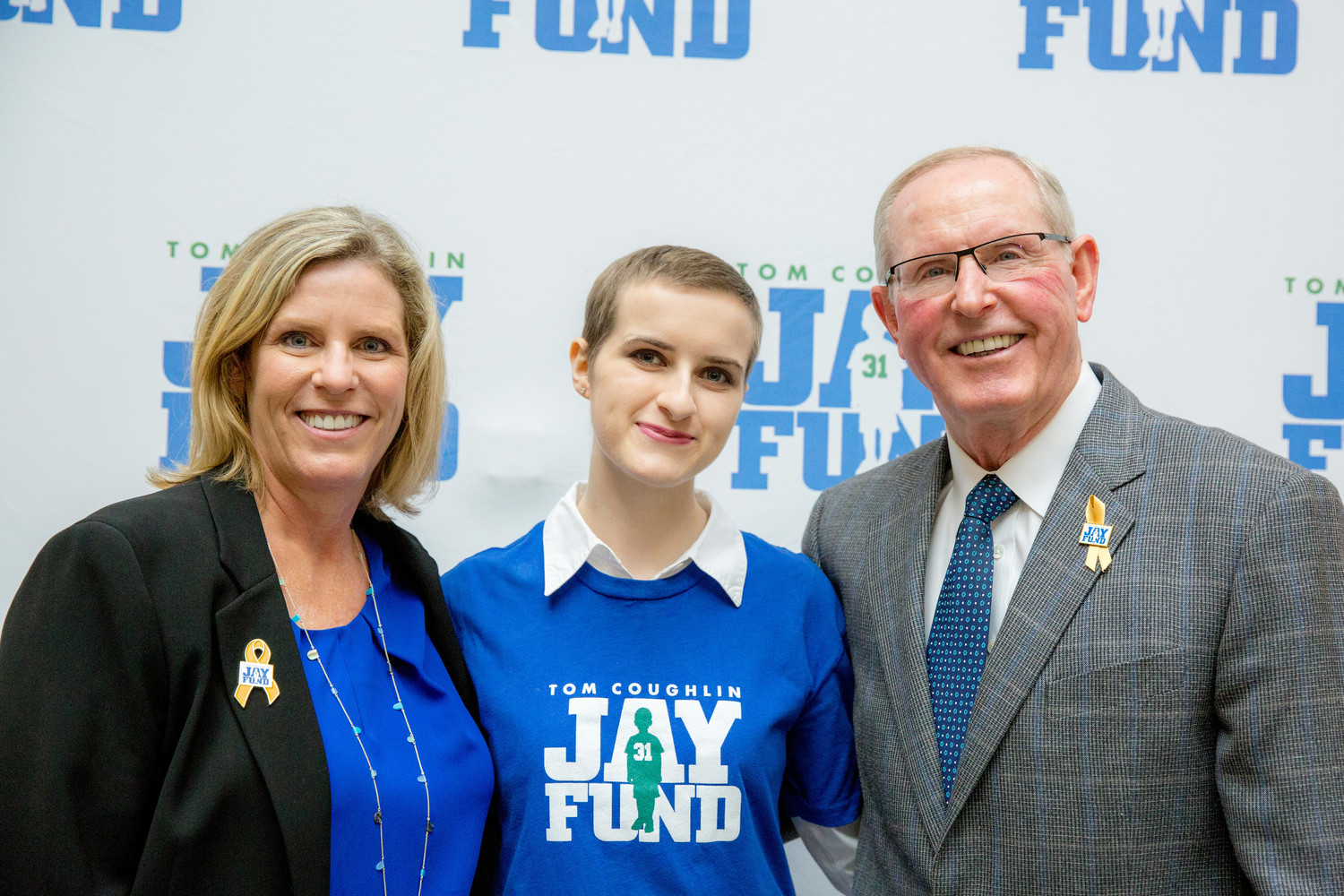 Keli and Tom Coughlin with Isabelle Scott