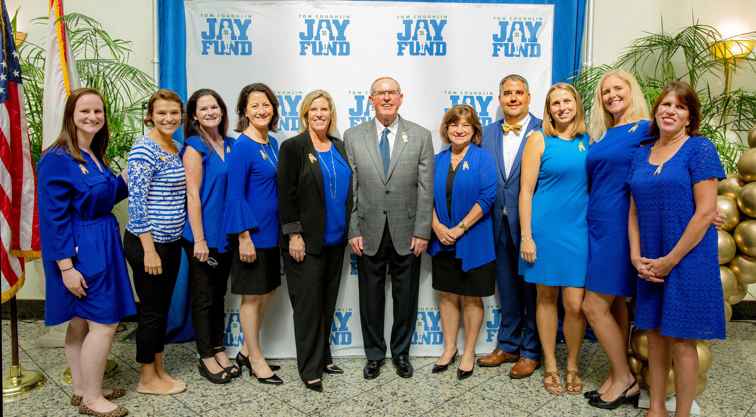 The Jay Fund staff gathers at the City of Jacksonville proclamation event at City Hall on Sept. 5.