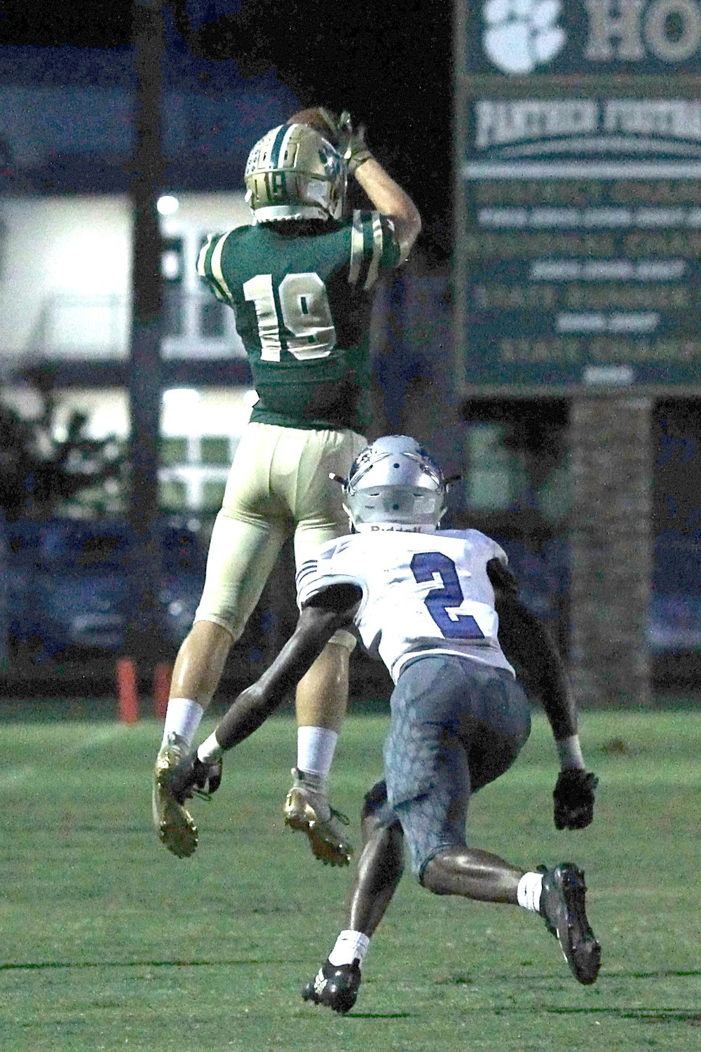 Nease wide receiver Nicholas Bunkosky makes a catch for the Panthers in the team's 6-5 loss to Matanzas on Sept. 28.