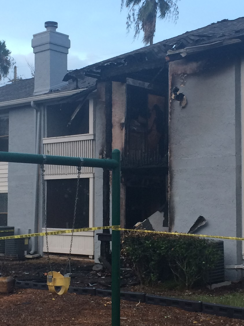 A fire on Monday afternoon damaged three apartments in The Coast at Ponte Vedra Lakes.