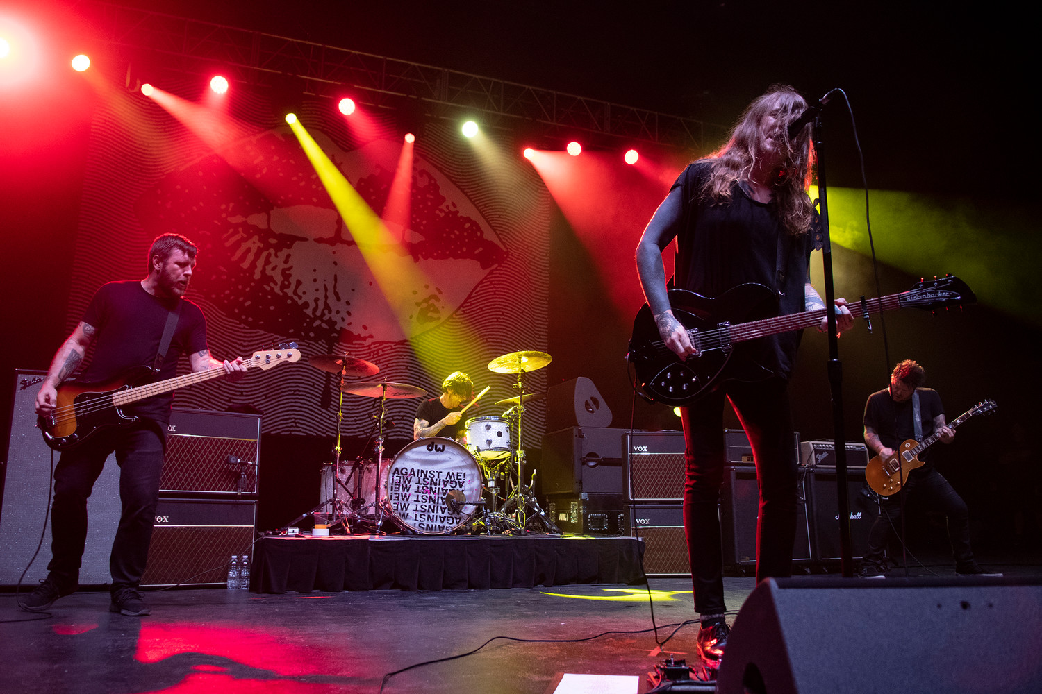 Against Me! plays at the St. Augustine Amphitheatre during the Sing Out Loud Festival.