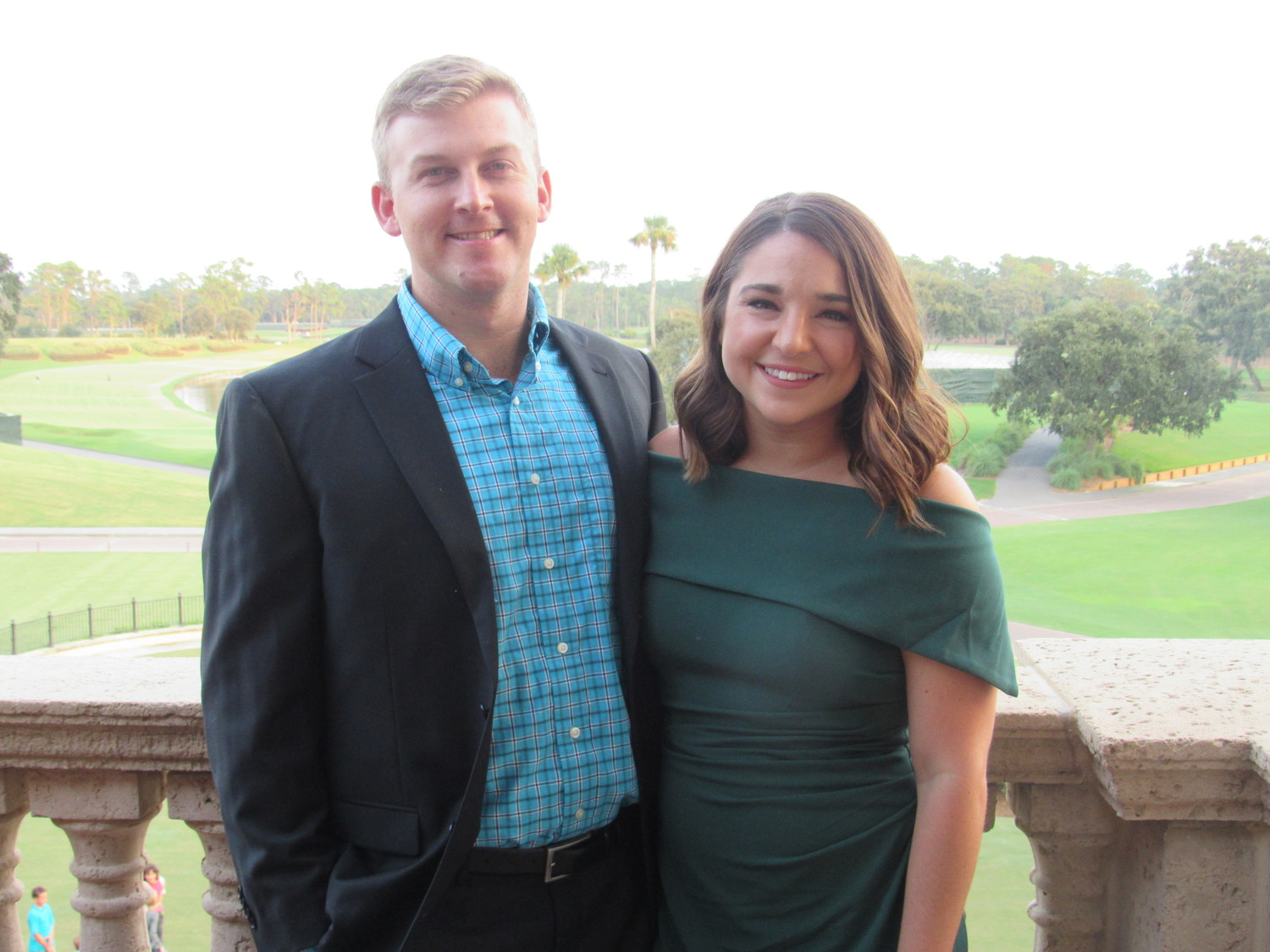 Jacksonville residents Austin and Kelsey Terhune attend the event at TPC Sawgrass.