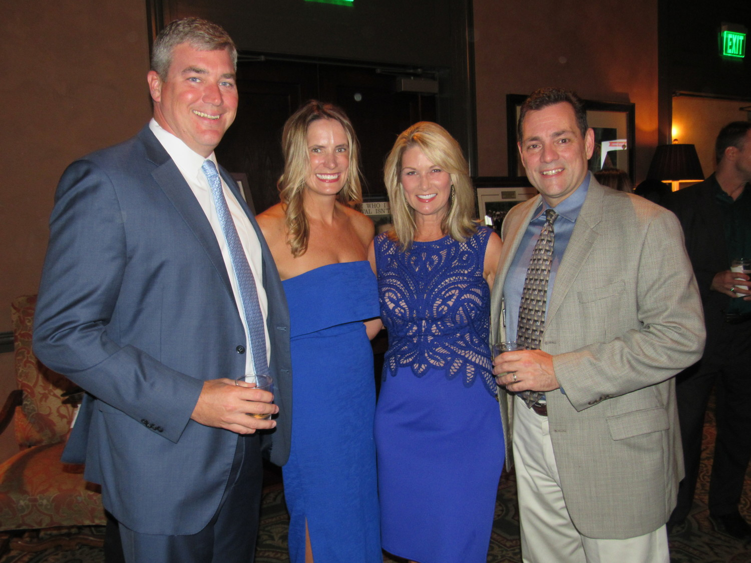 Nemours Chief Legal Officer for Florida Operations Hilary Keeley (center left) attends the event with husband Tom Keeley (from left), Alicia Booth Sprecher and Dr. Rob Sprecher.