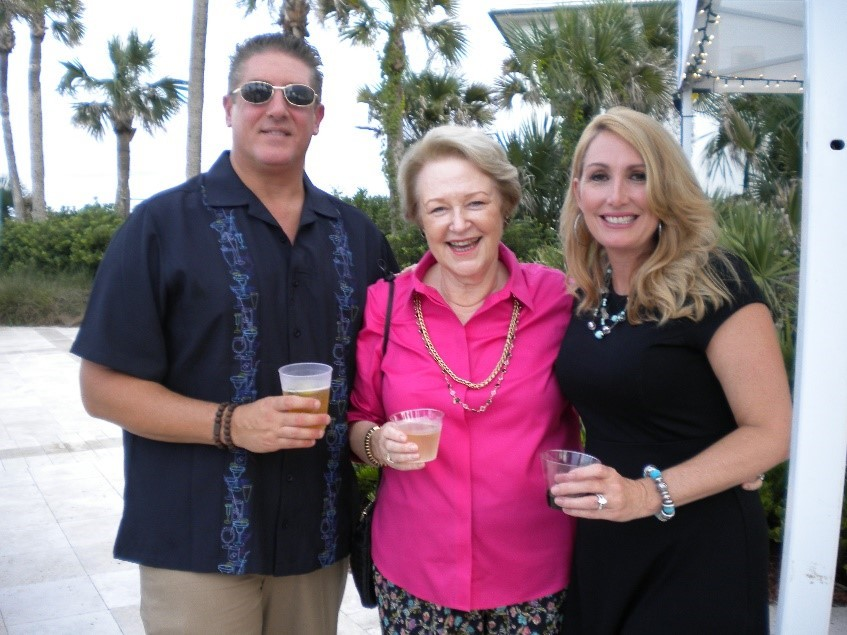New Ponte Vedra residents Les and Judy Sotsky (left and right) celebrate the event with Michael and Marie Garnes.