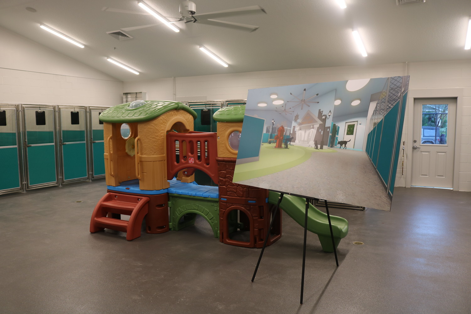 A playground for pets is offered at the Pet Paradise Bartram location.