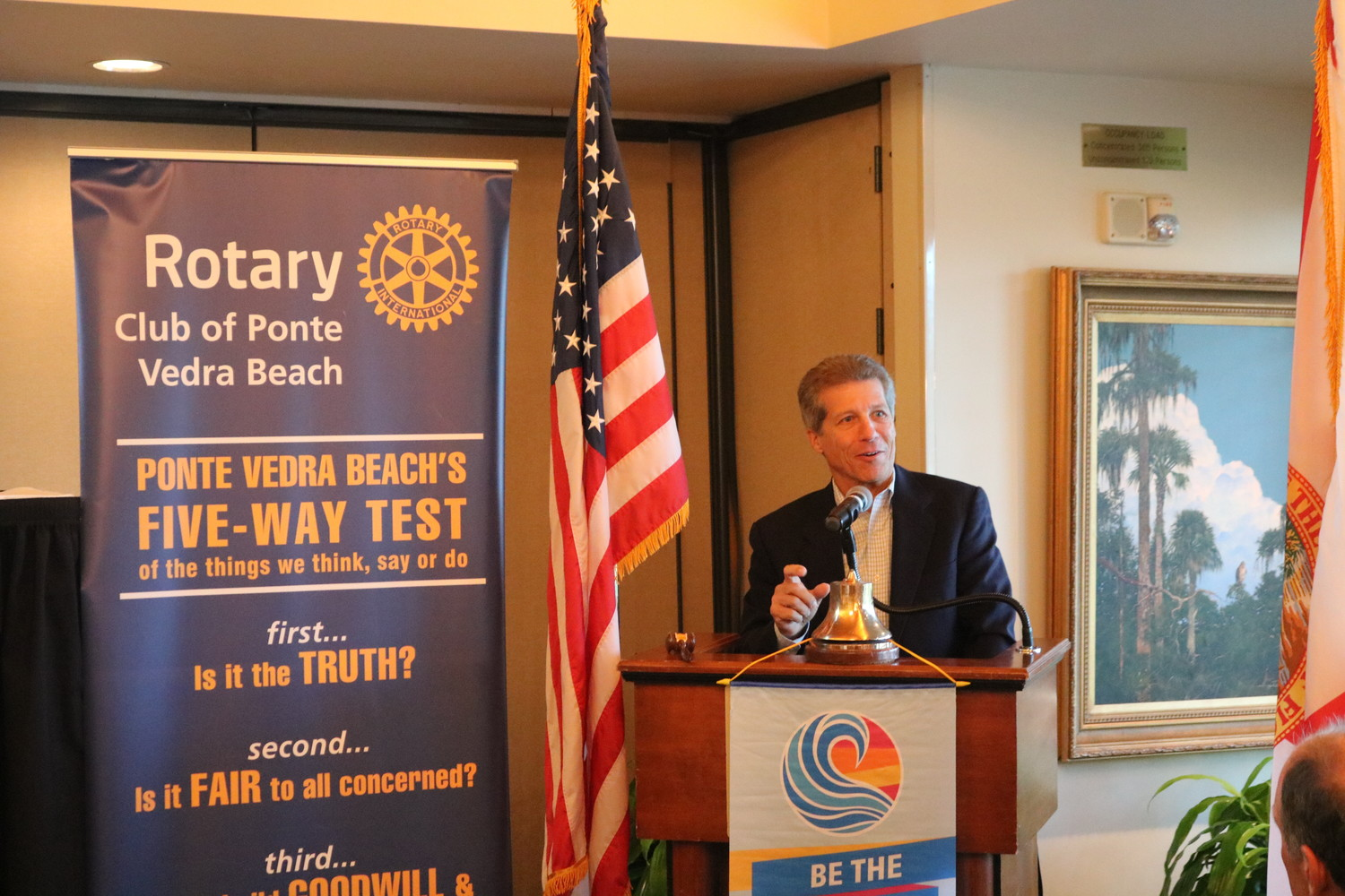 The PARC Group President and CEO Rick Ray addresses the Rotary Club of Ponte Vedra Beach on Thursday, Oct. 11 at Marsh Landing Country Club.