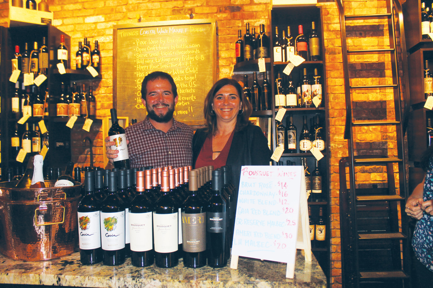 Coastal Wine Market & Tasting Room Co-owner Steve Lourie and Domaine Bousquet CEO, Co-founder and Partner Anne Bousquet