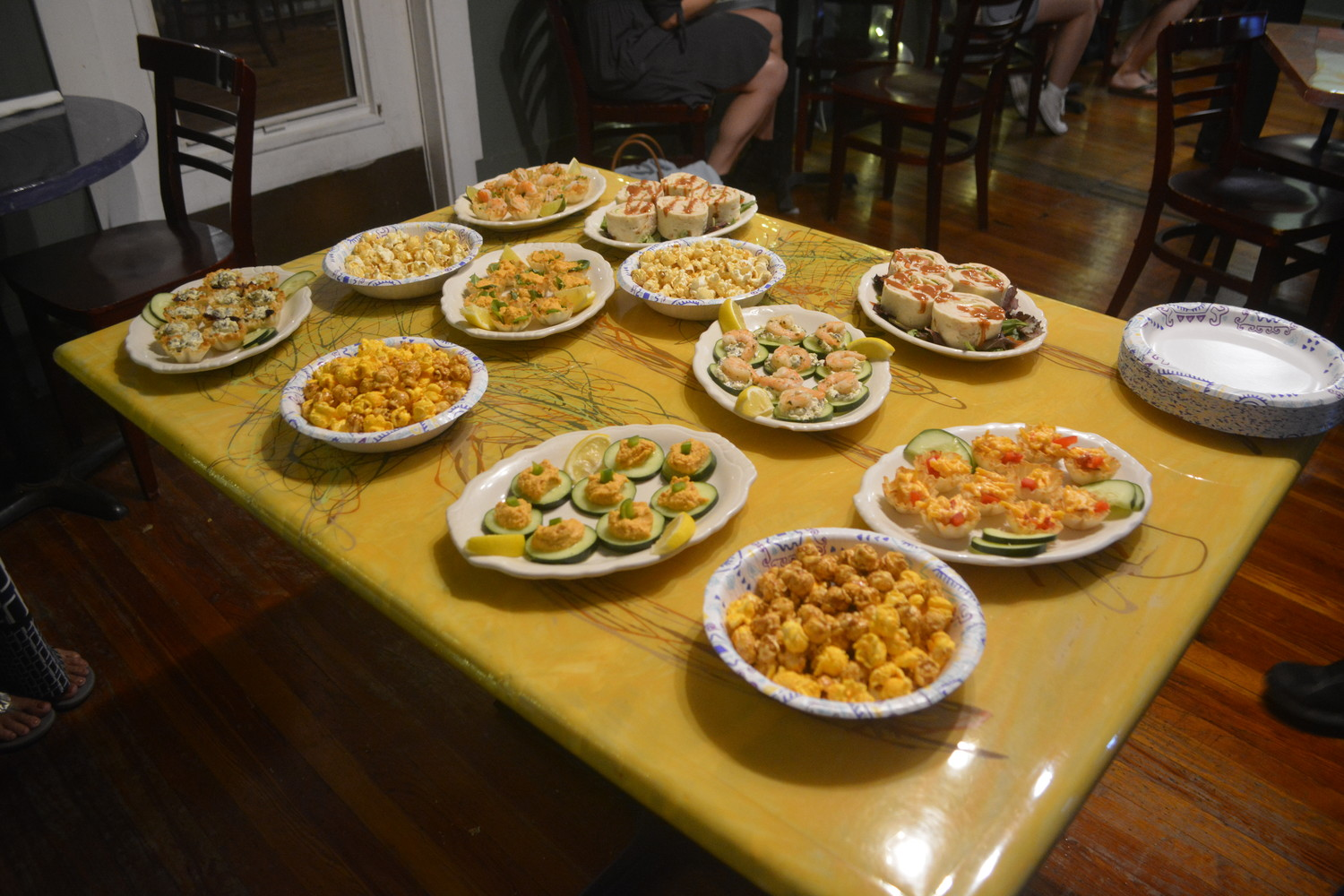 Hors d'oeuvres were available for attendees at the awards ceremony and horror movie screening in Fernandina Beach.