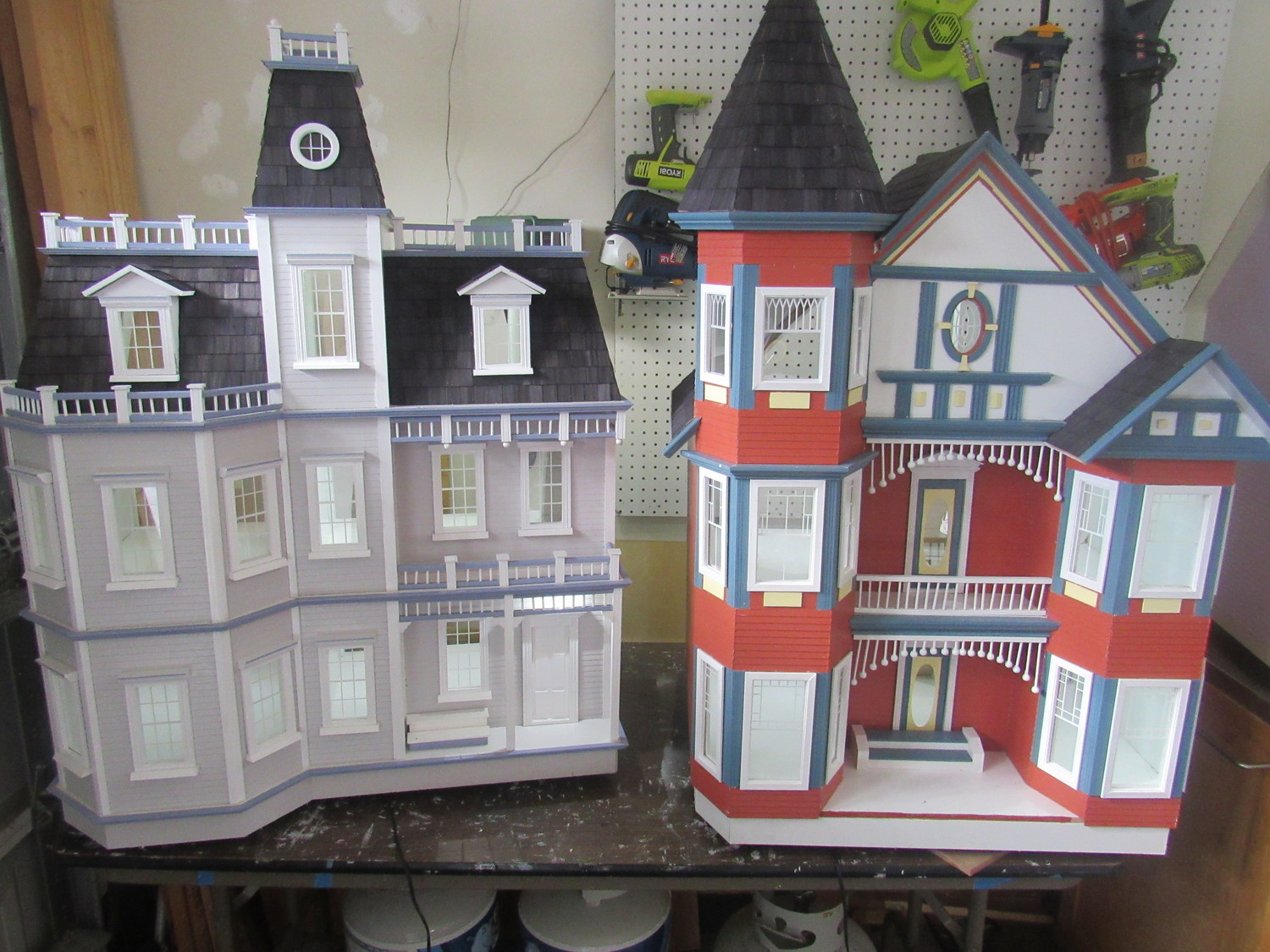 Built by Nocatee resident Brendan Hoffman, these two Victorian-style doll houses will be donated this December to children in hospice care in the Community PedsCare program at Community Hospice & Palliative Care.