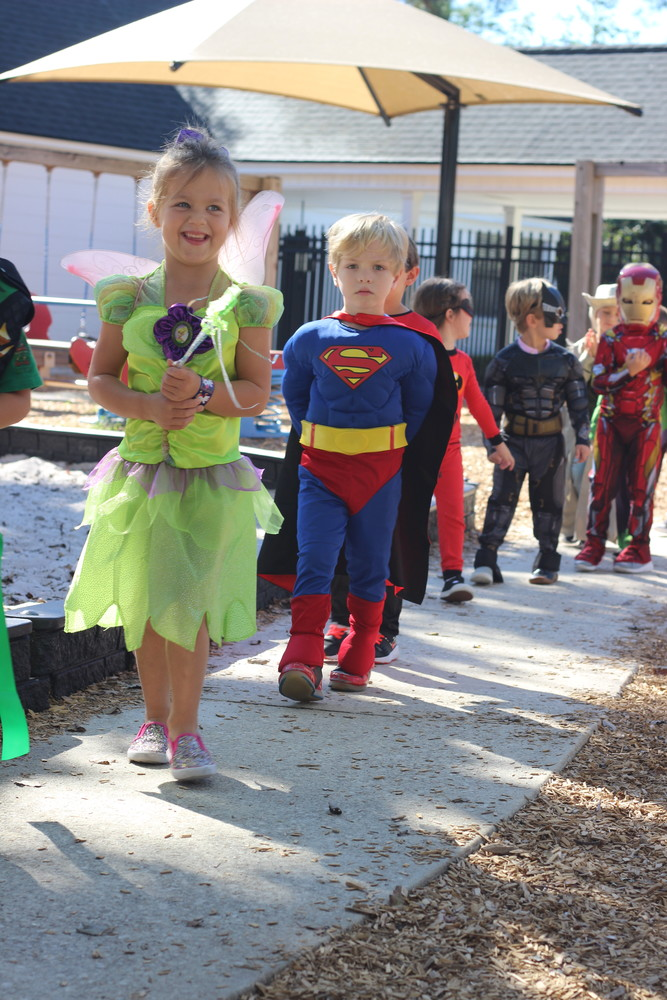 Christ Episcopal Church preschoolers enjoy the school's annual Halloween parade on Tuesday, Oct. 30.