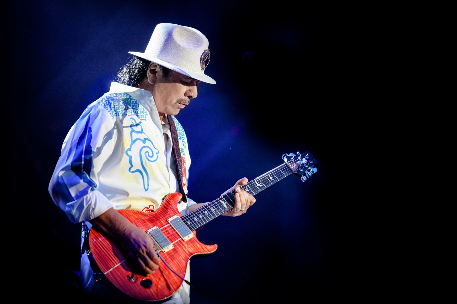 Carlos Santana is performing at the St. Augustine Amphitheatre on Saturday, April 20, 2019. 