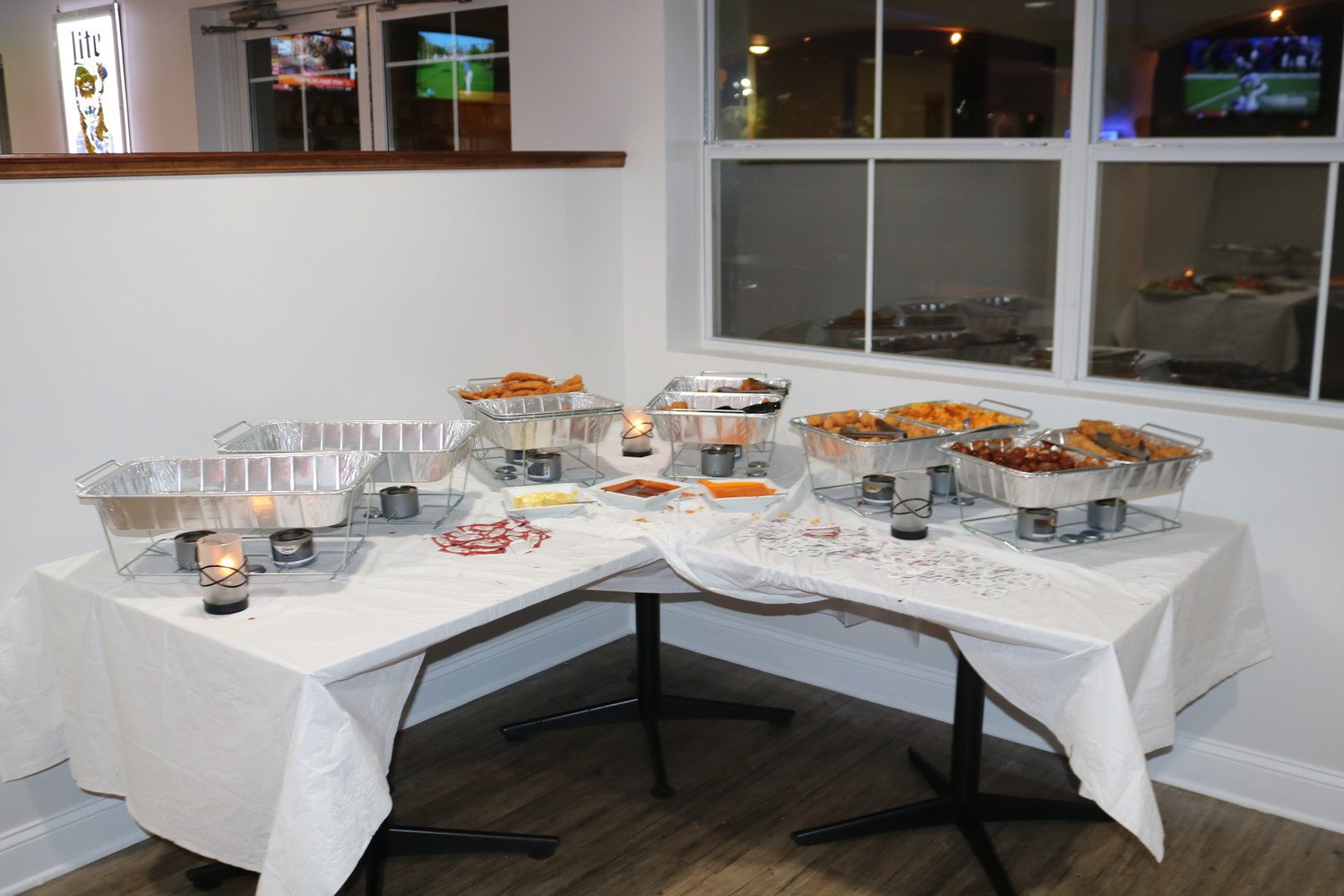 Assorted snacks were available for guests at the Jax Beach Golf Club ribbon-cutting ceremony.
