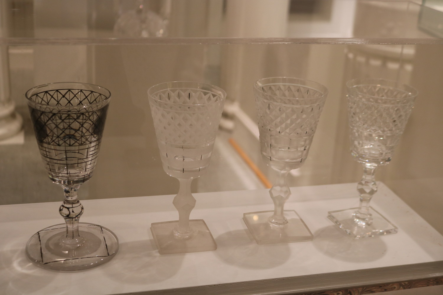 "American ""Brilliant Period"" cut glass is on display at the Lightner Museum."