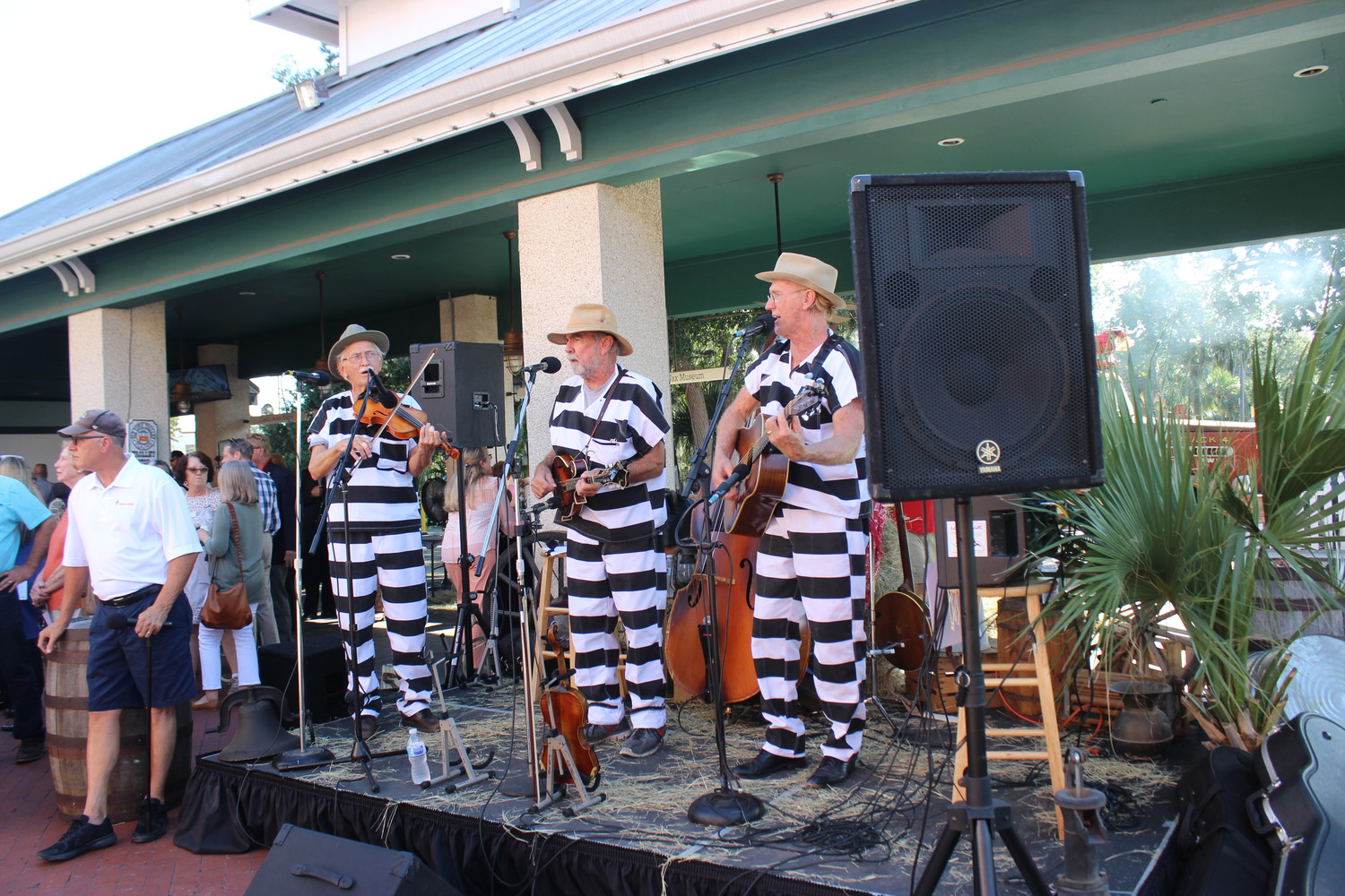 Local group Ball and Chain Gang provides entertainment at the event.