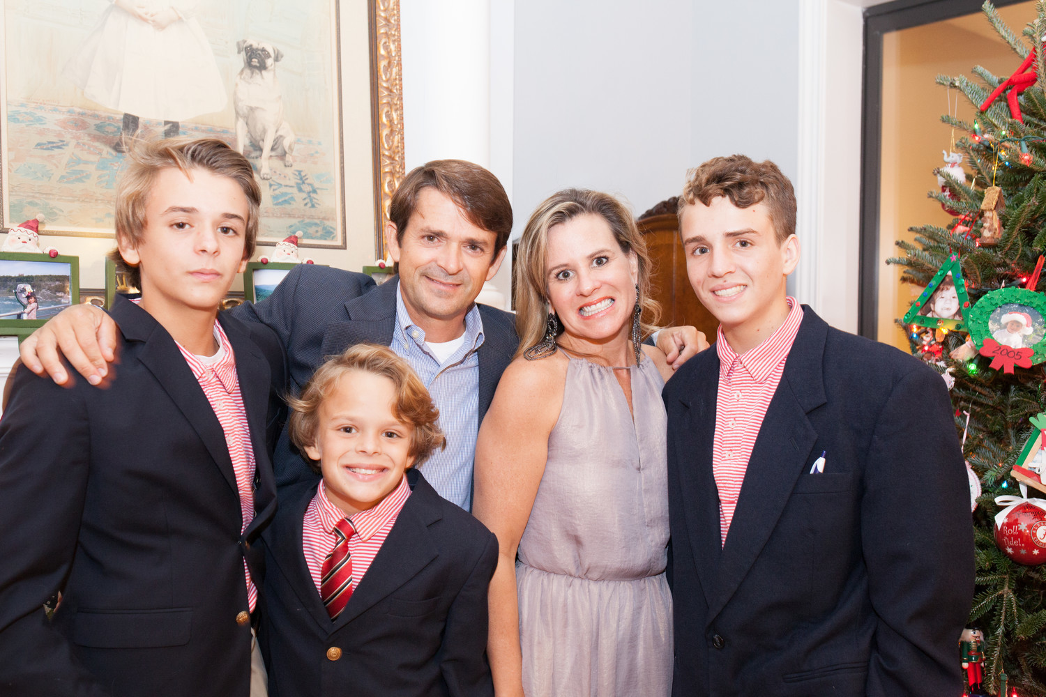 Justin and Mary Beth Clark and family at the fundraiser in 2017