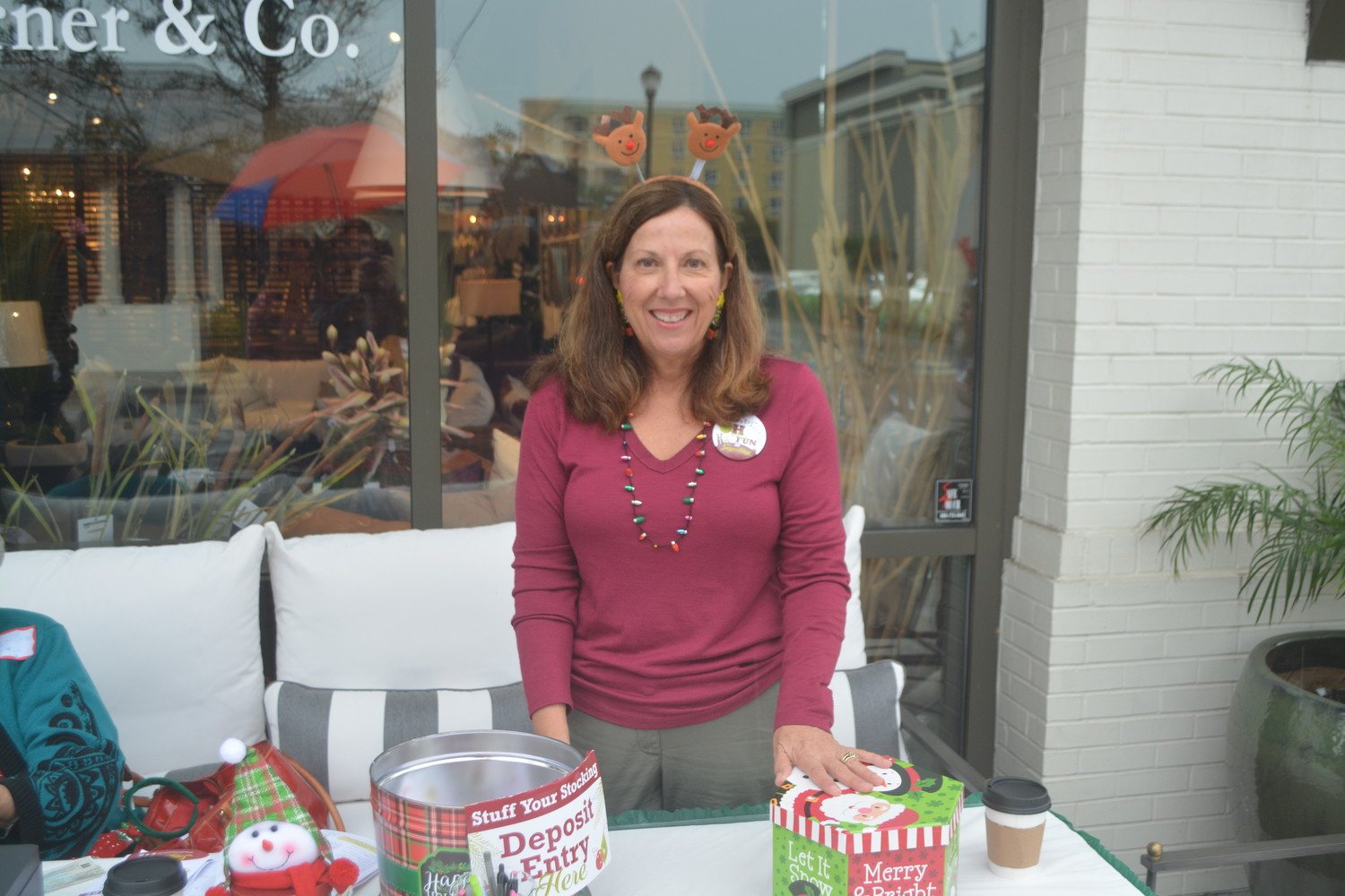 Susan Hardy of the Ponte Vedra Woman's Club enjoys the local holiday event.
