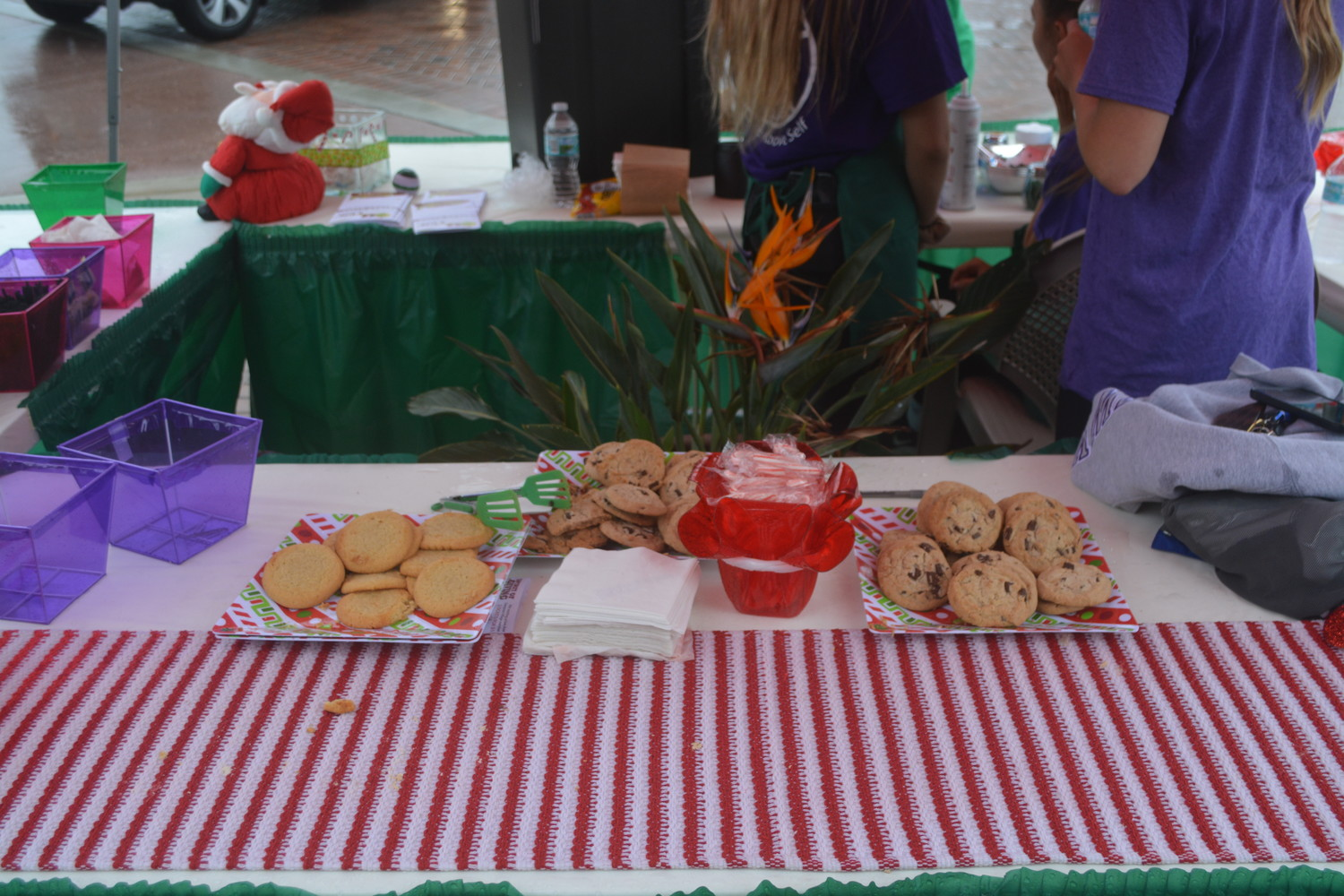 "Cookies lay on a table for guests to enjoy at the ""Oh What Fun!"" event."