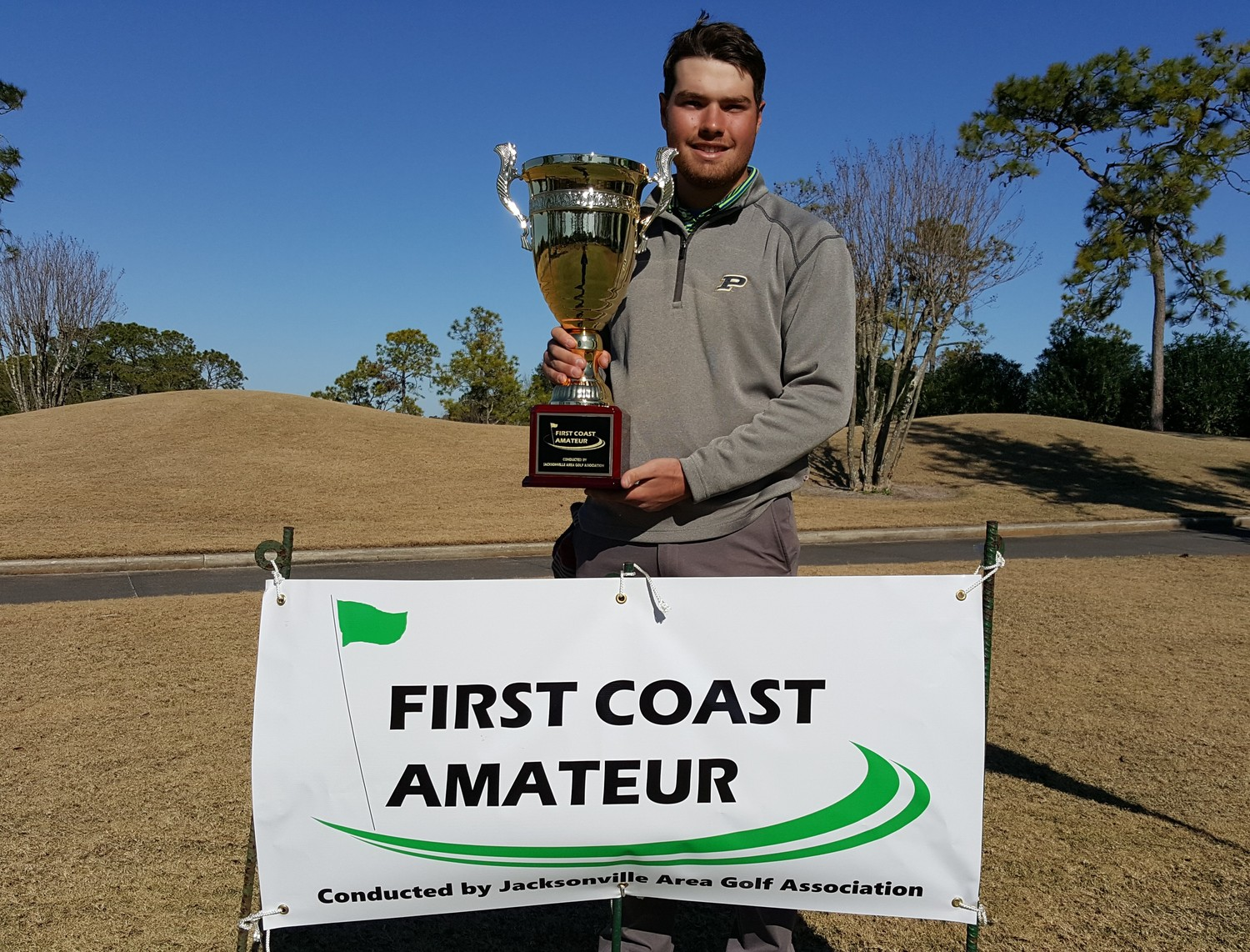 Defending First Coast Amateur champion Cole Bradley of Purdue University returns to the JAGA 2019 First Coast Amateur, which is being held Jan. 19-21 at Hidden Hills Golf Club.