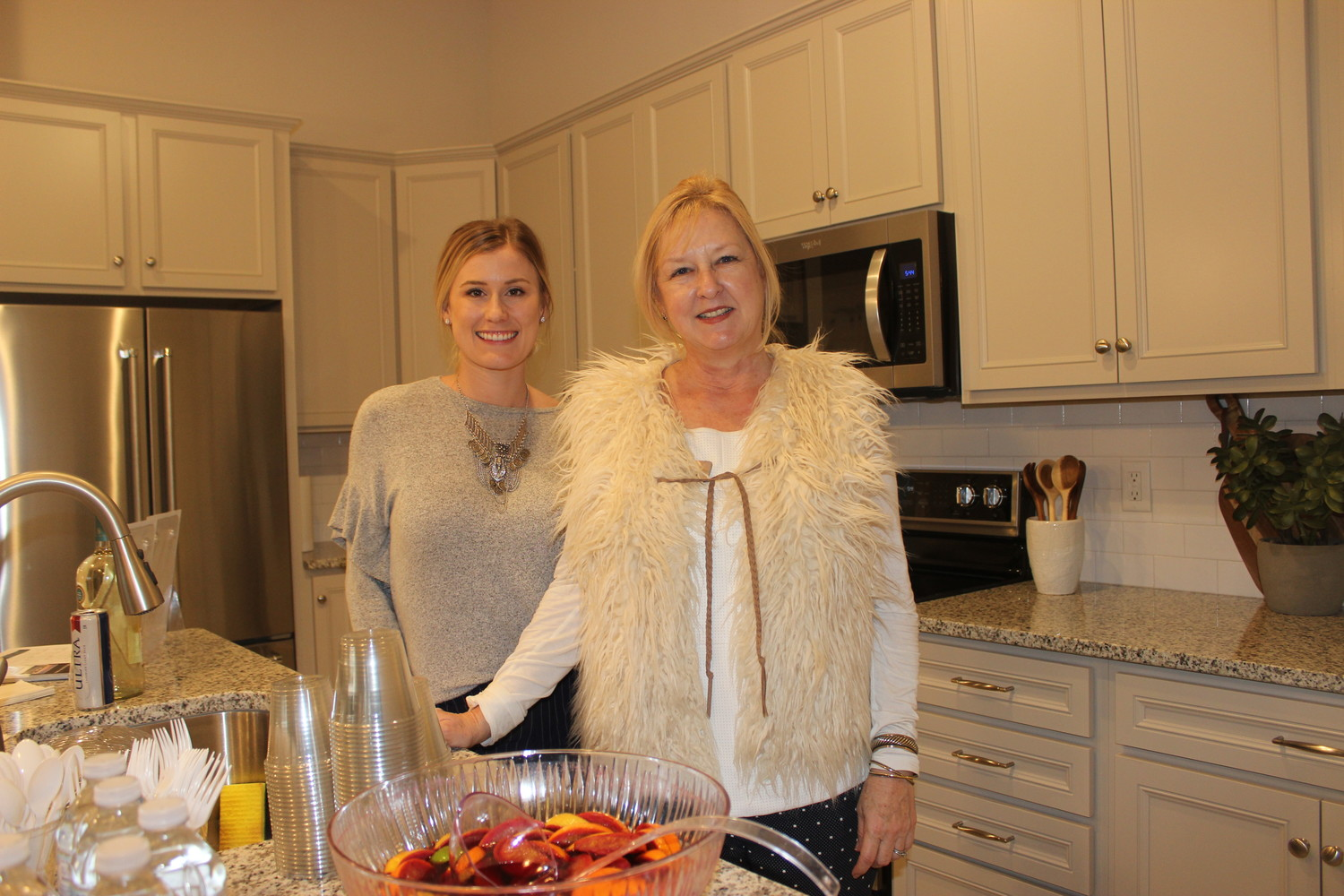 Kimberly Abreu and Laura Copeland attend the realtor preview for Del Webb's newest condos on Jan. 17.