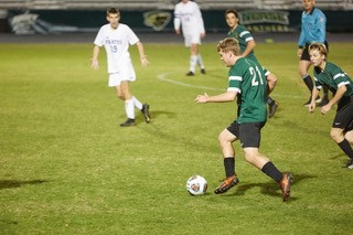 Nease's Chase Stuetzel moves the ball down the field against Fernandina Beach on Tuesday, Jan. 22.