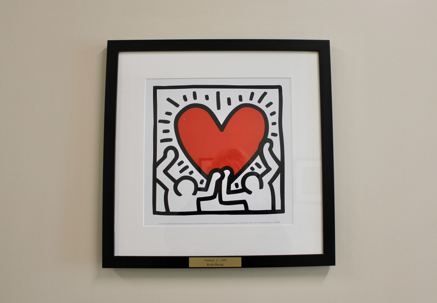 A piece from Keith Haring at Palm Valley Academy