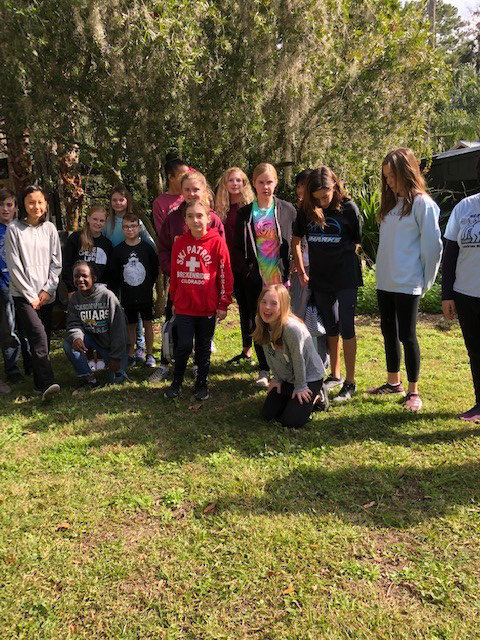 Best Buddies from Landrum Middle School visit Fantasy Farms on Jan. 12.