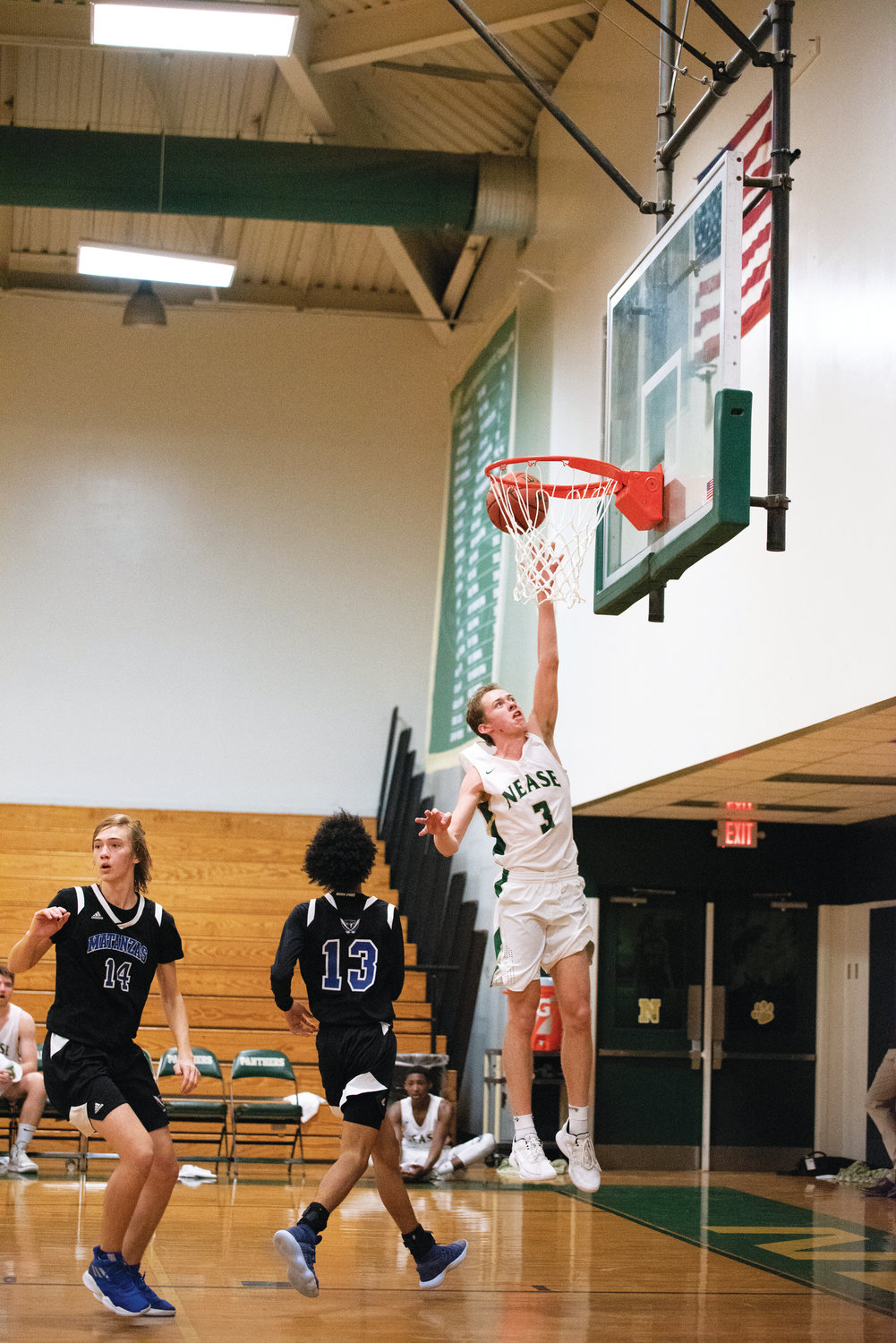 Nease senior Zachary Fifield makes a layup for the Panthers, who defeated Matanzas, 56-45, in the final game of the St. Johns River Athletic Conference (SJRAC) Tournament last Saturday, Feb. 2. Fifield finished with 11 points, six rebounds and four assists.
