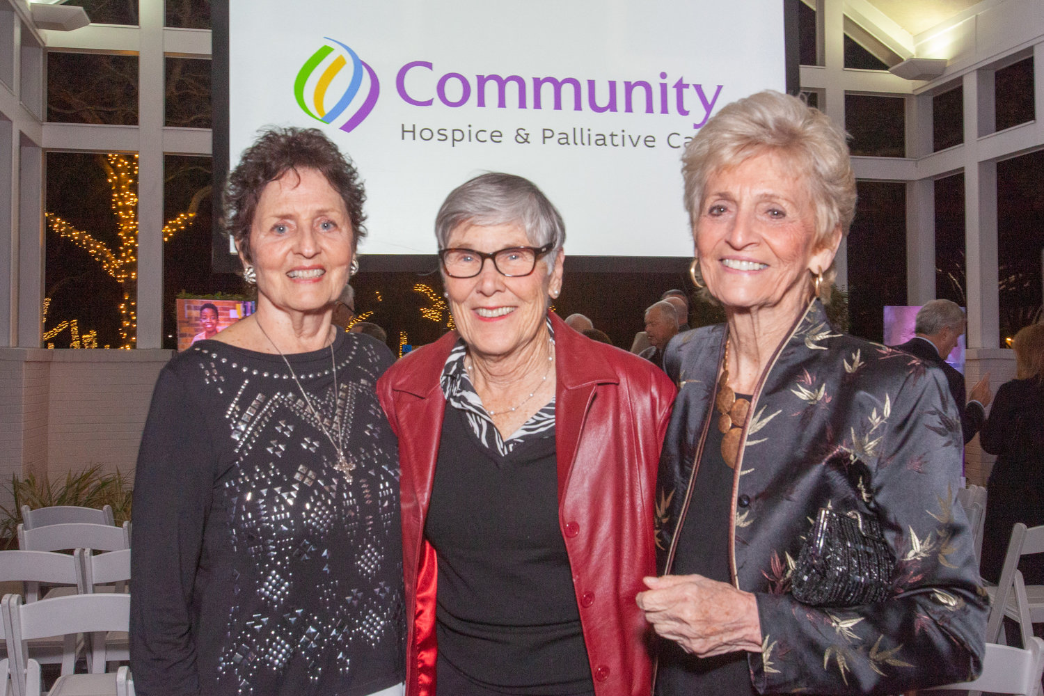 Trudy Harris, Connie Kolster and Jackie Aquino — a trio of nurses who were among those instrumental in starting Community Hospice — gather at Community Hospice & Palliative Care's 40th anniversary Light Party on Jan. 25.